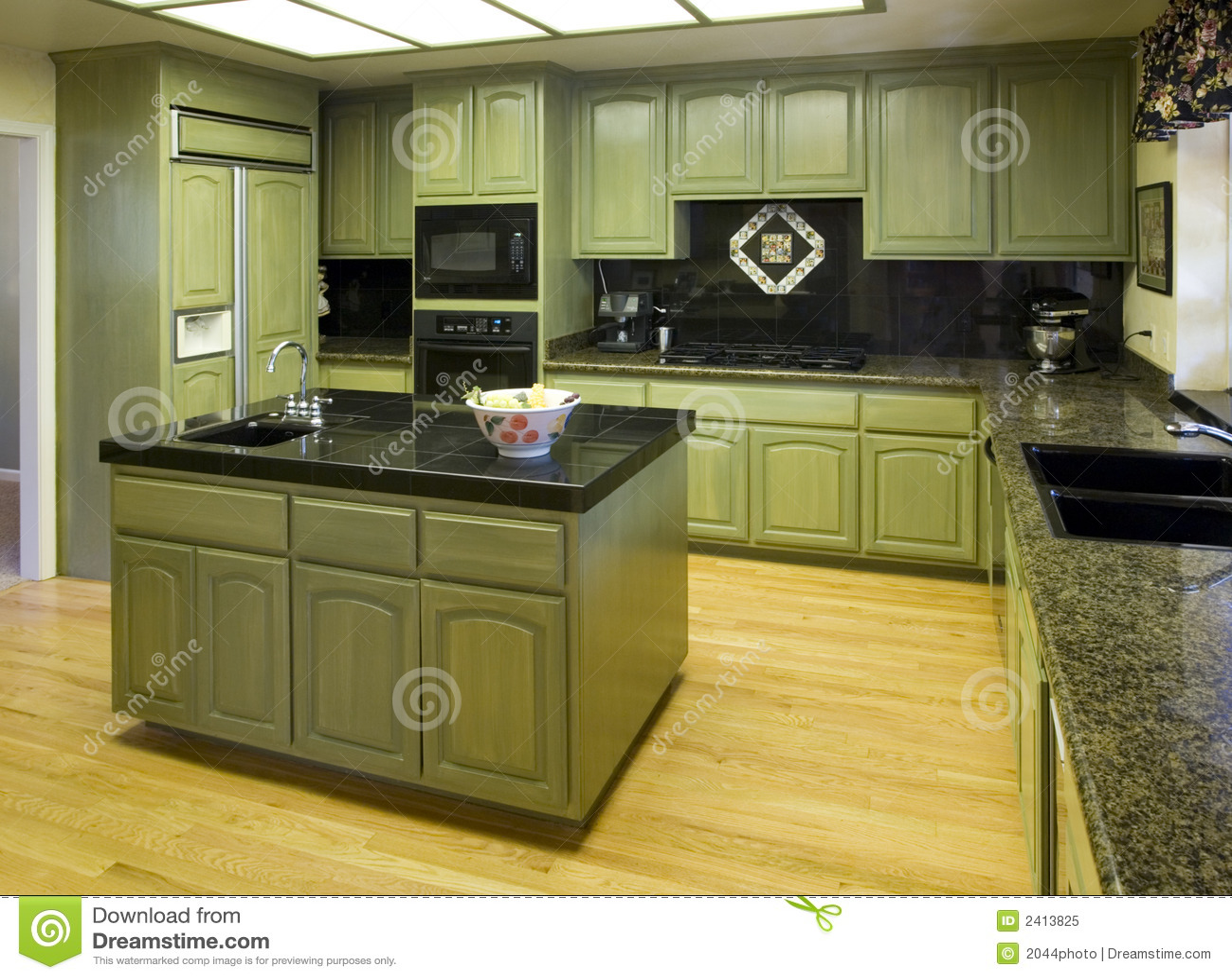 Cozinha Residencial Suburbana Foto de Stock Royalty Free  Imagem