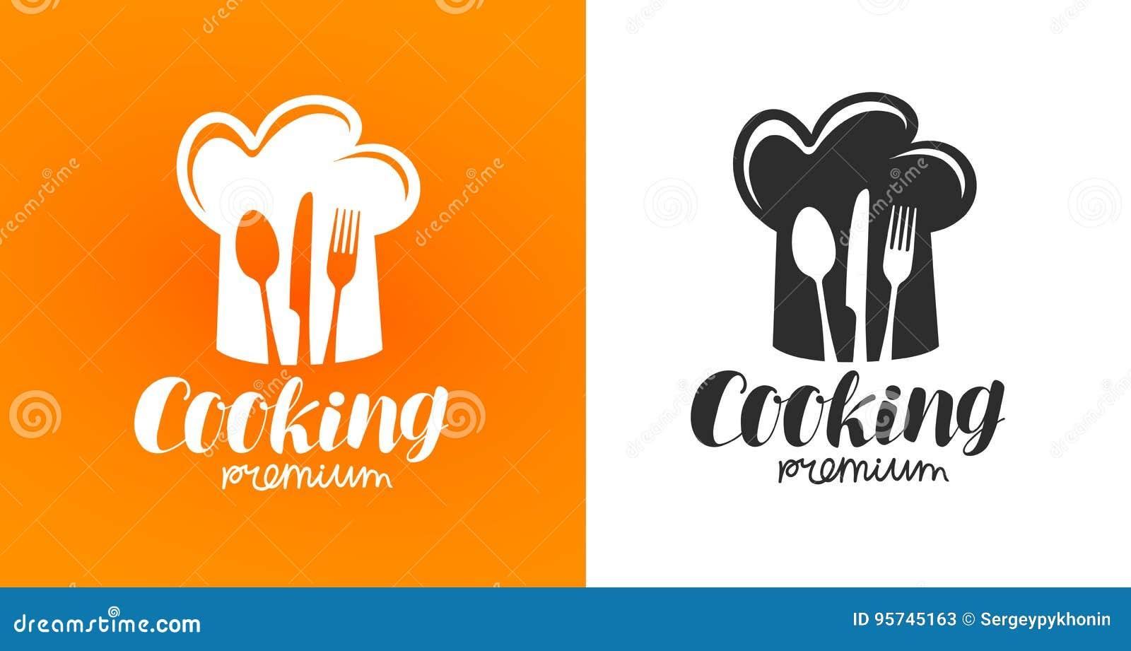 Cozinhando a etiqueta ou o logotipo Restaurante, restaurante, jantar, restaurante, ícone do café