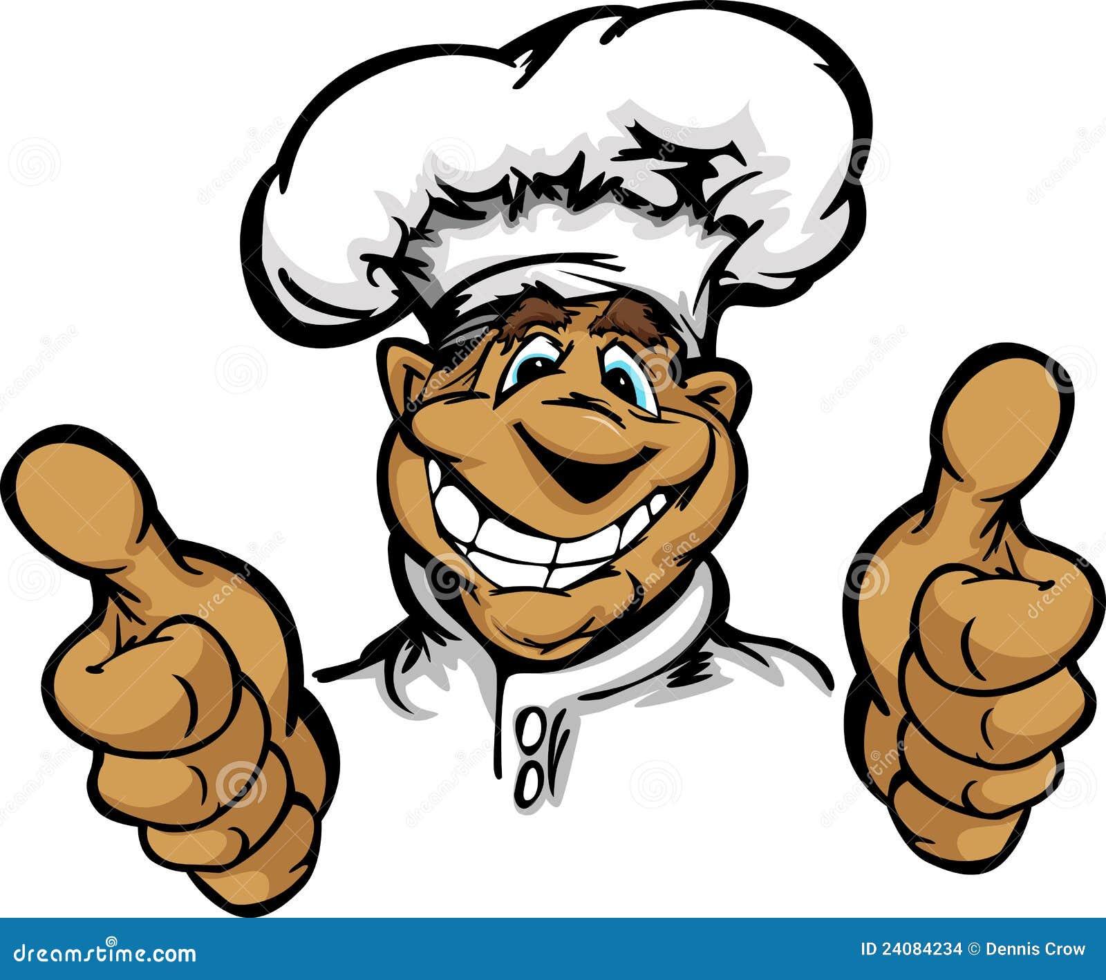 Imagens de Stock: Cozinheiro chefe de sorriso da cozinha dos desenhos  #14A0B7 1300 1169