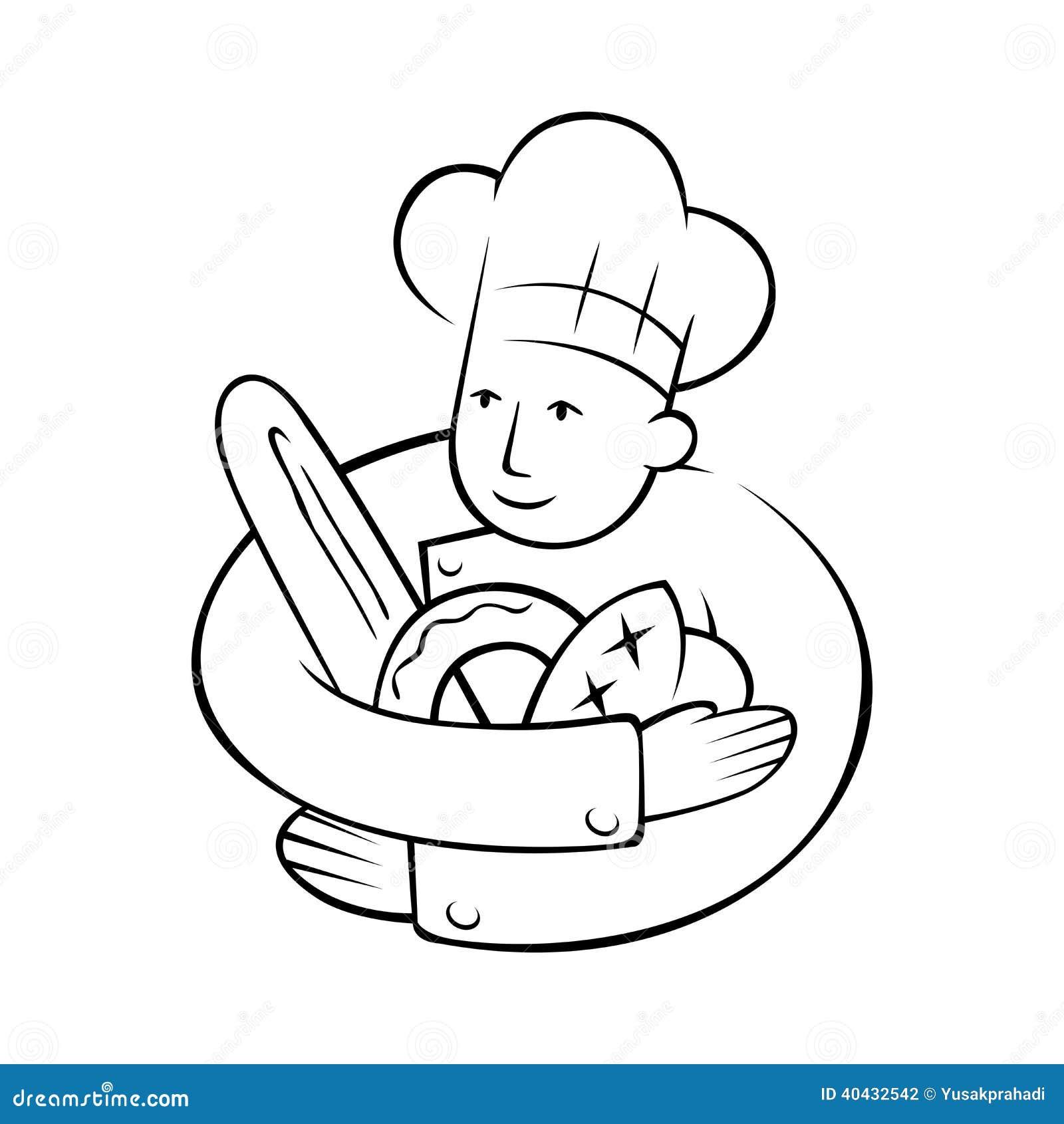 Cozinheiro chefe Holding Bread