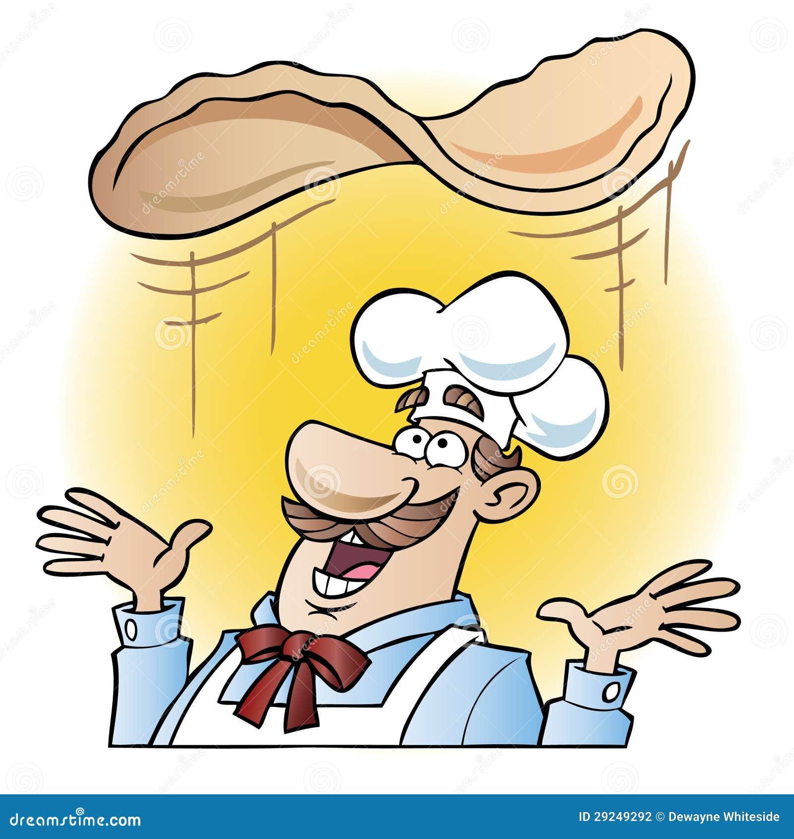 Download Cozinheiro Chefe Que Lanç A Massa Da Pizza Ilustração do Vetor - Ilustração de culinary, alimento: 29249292
