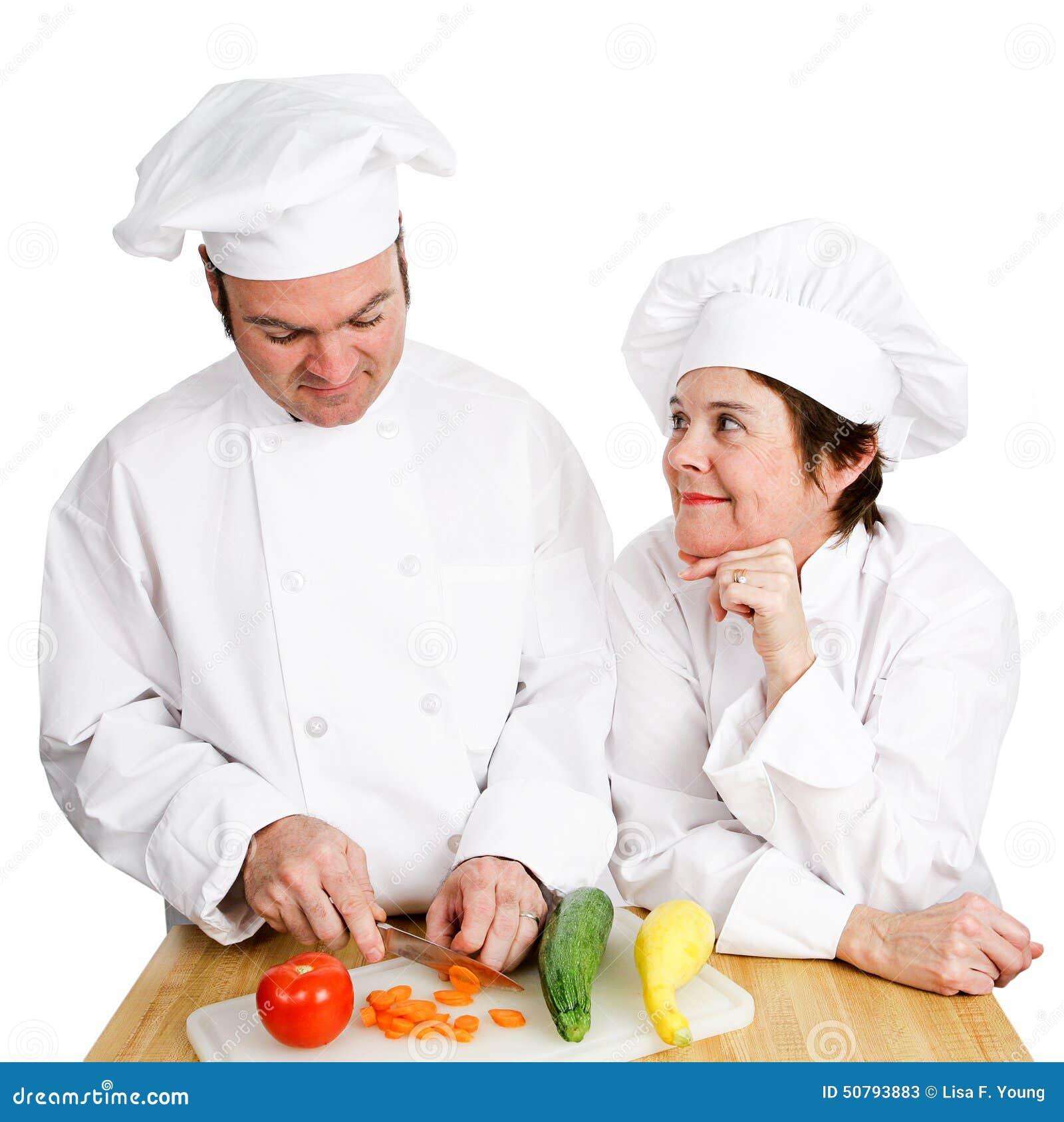 Cozinheiros chefe - observando Preperation