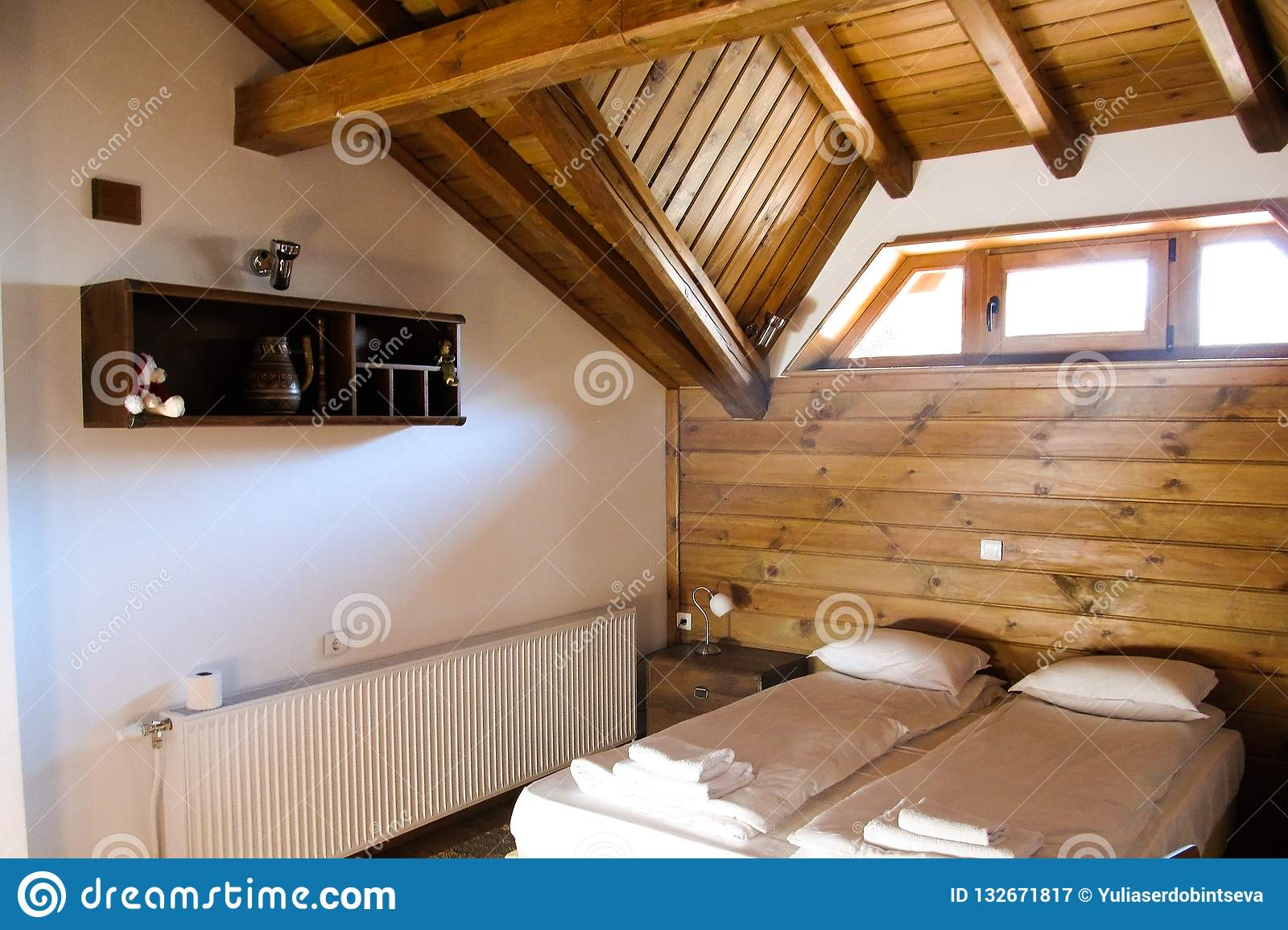 Cozy apartments in a wooden house in Bulgaria.