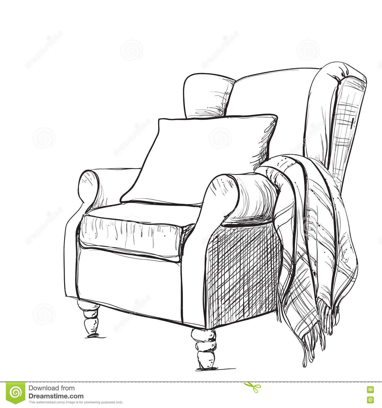 warm blanket clipart. royaltyfree vector download cozy armchair and warm blanket clipart