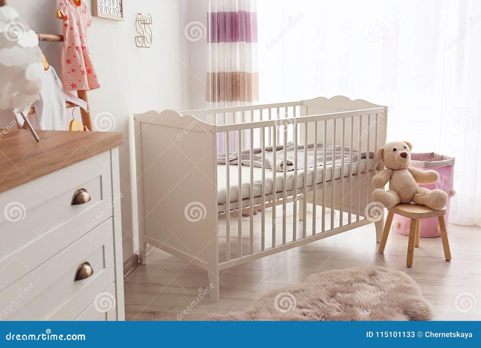 Cozy baby room interior