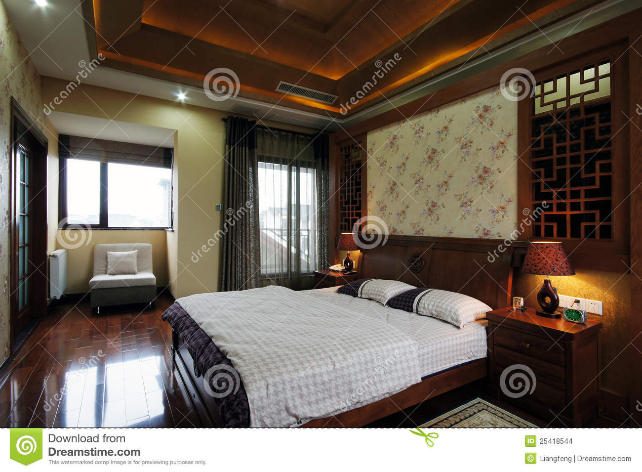 Cozy Bedroom Stock Images Image 25418544
