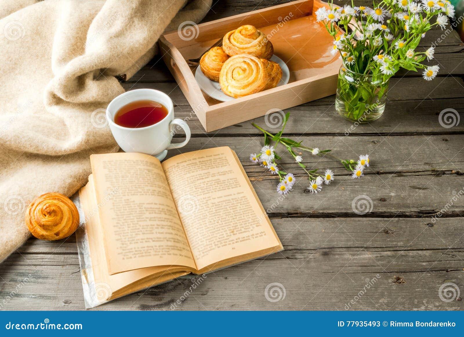 Cozy Breakfast With Freshly Baked Scones Stock Image