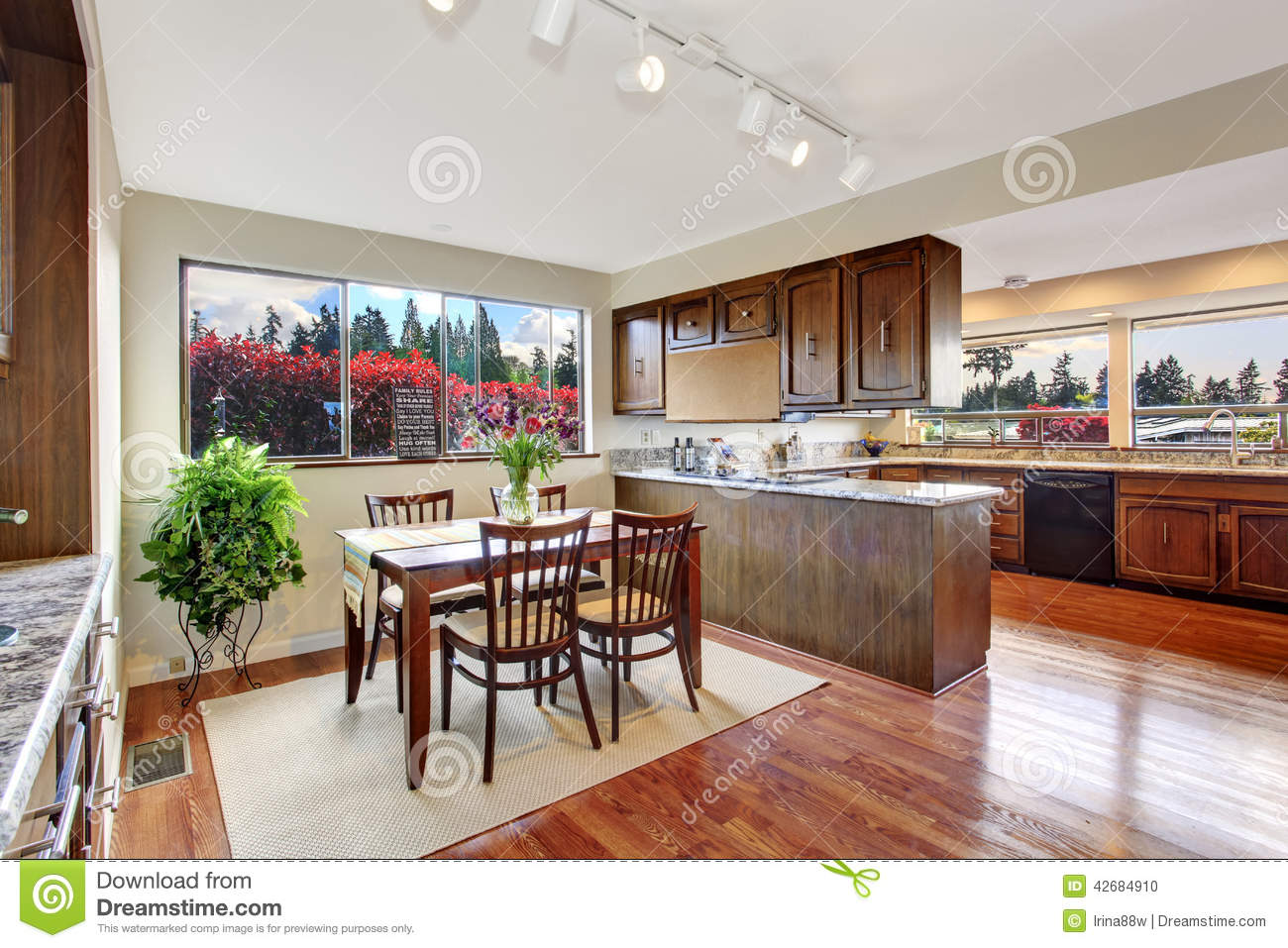 Cozy Dining Area Kitchen Room Stock Images