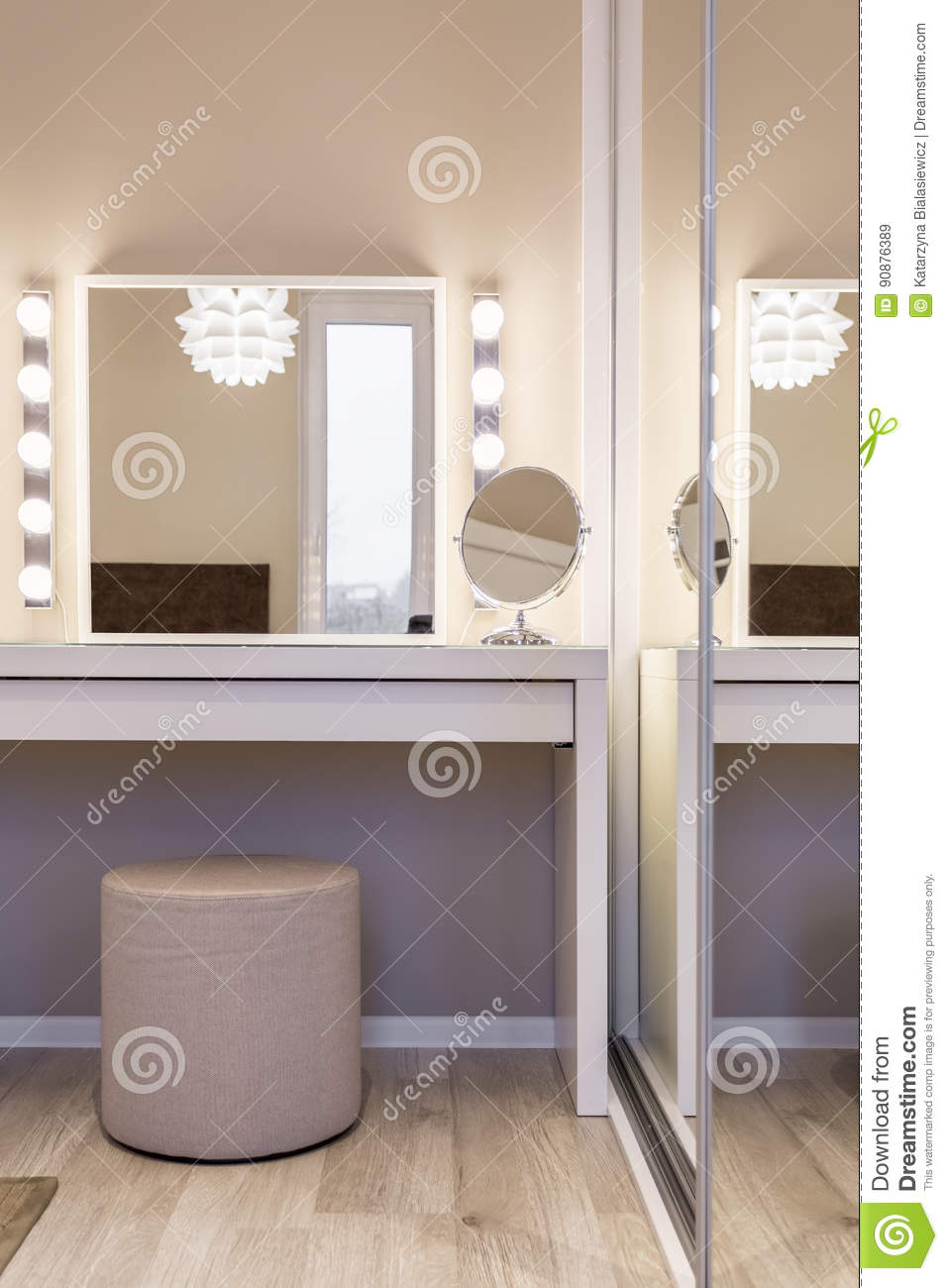 Cozy Dressing Table Stock Image Image Of Desk Simple 90876389