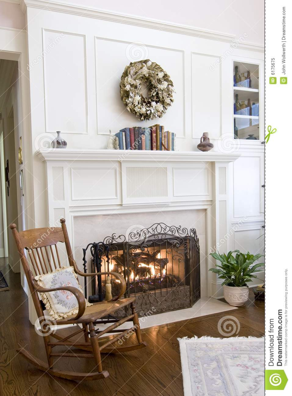cozy fireplace royalty free stock photo image 6175675