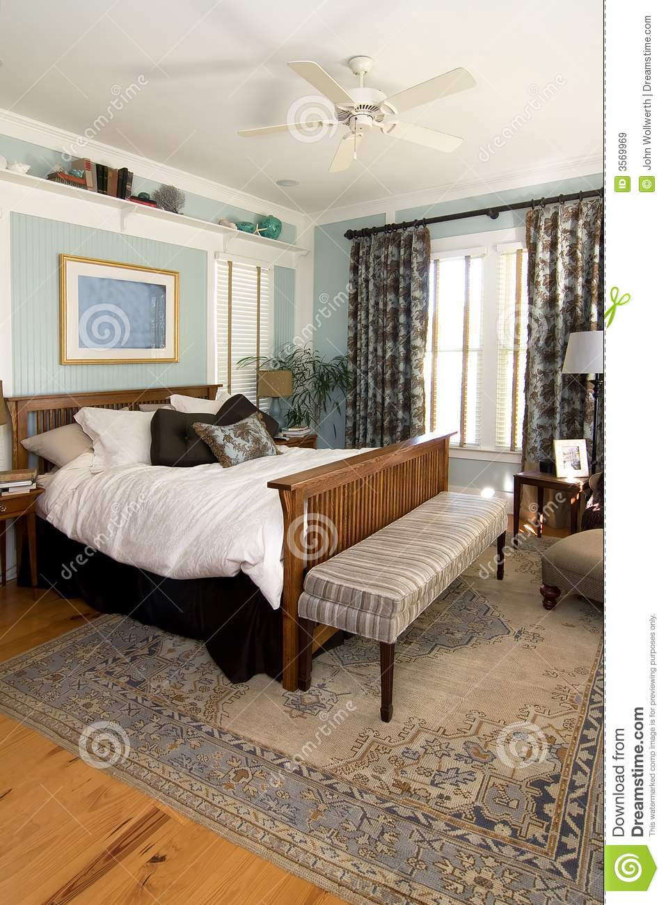 Cozy Furnished Bedroom Royalty Free Stock Images Image