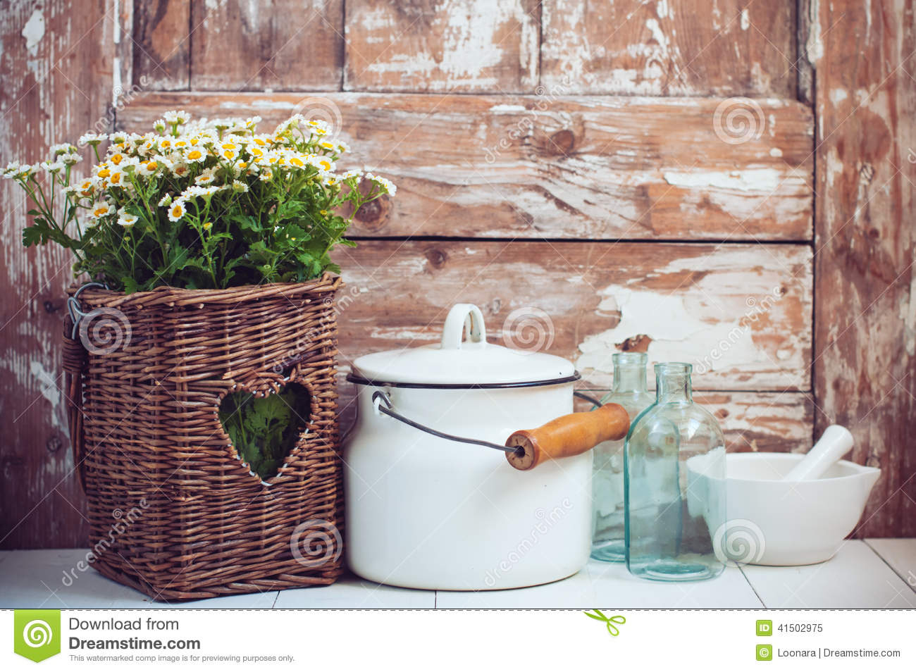 Cozy Home Rustic Decor Stock Photo
