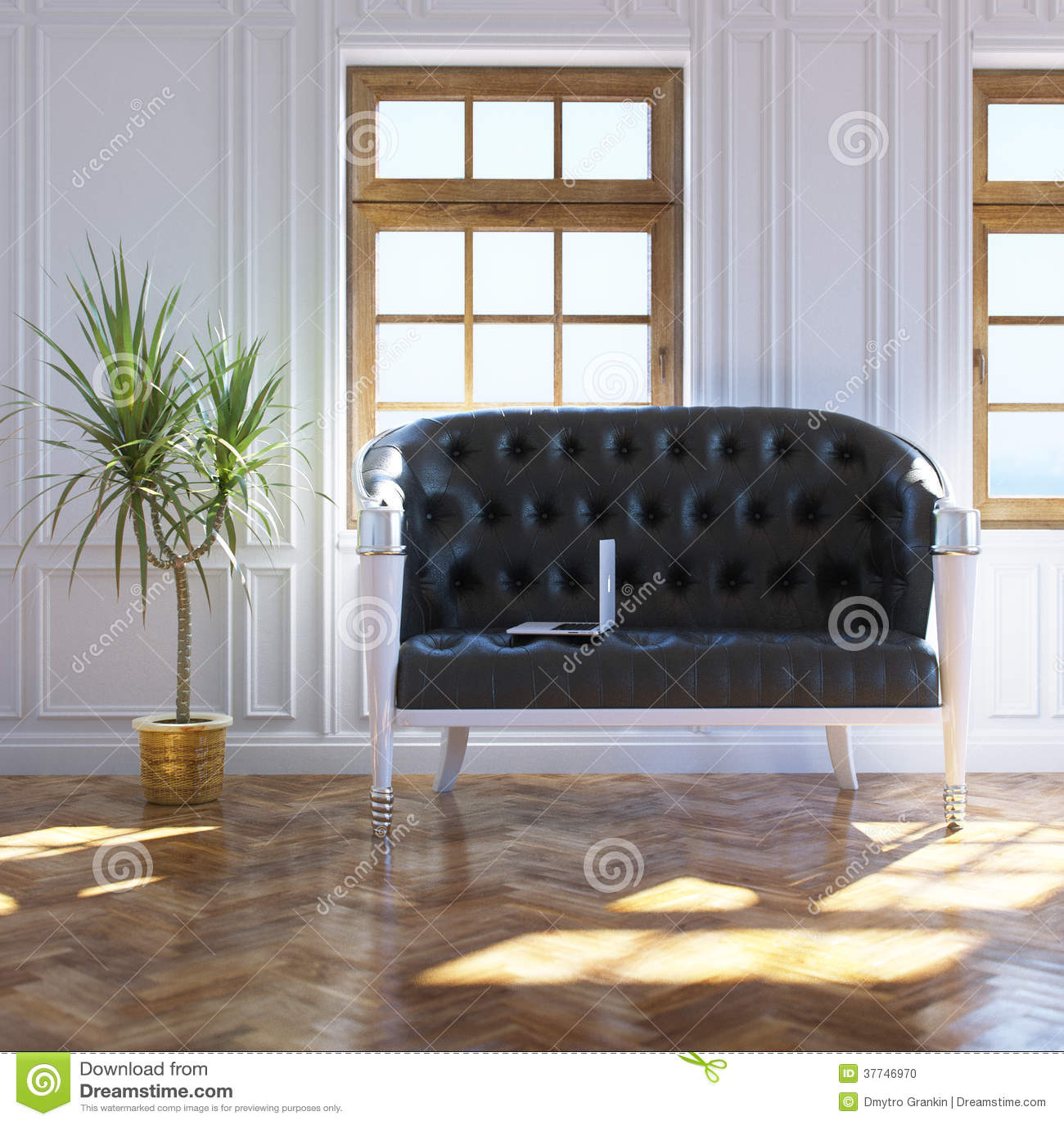 vintage window interior design royalty free stock photo. Black Bedroom Furniture Sets. Home Design Ideas