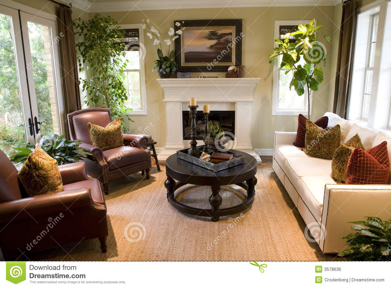 Cozy living room royalty free stock image image 3578636 for Living room pics