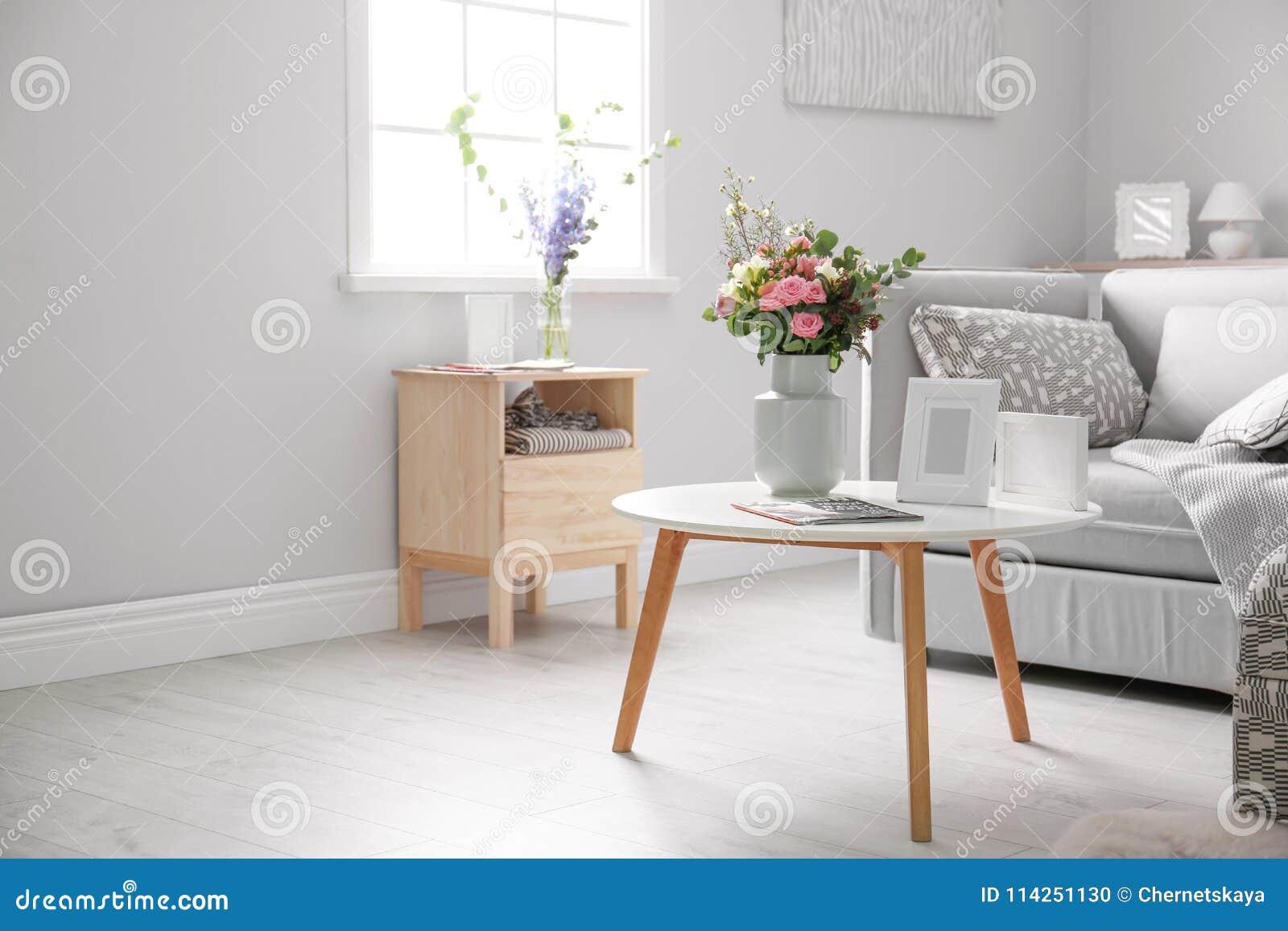 cozy living room interior with comfortable sofa stock photo image rh dreamstime com