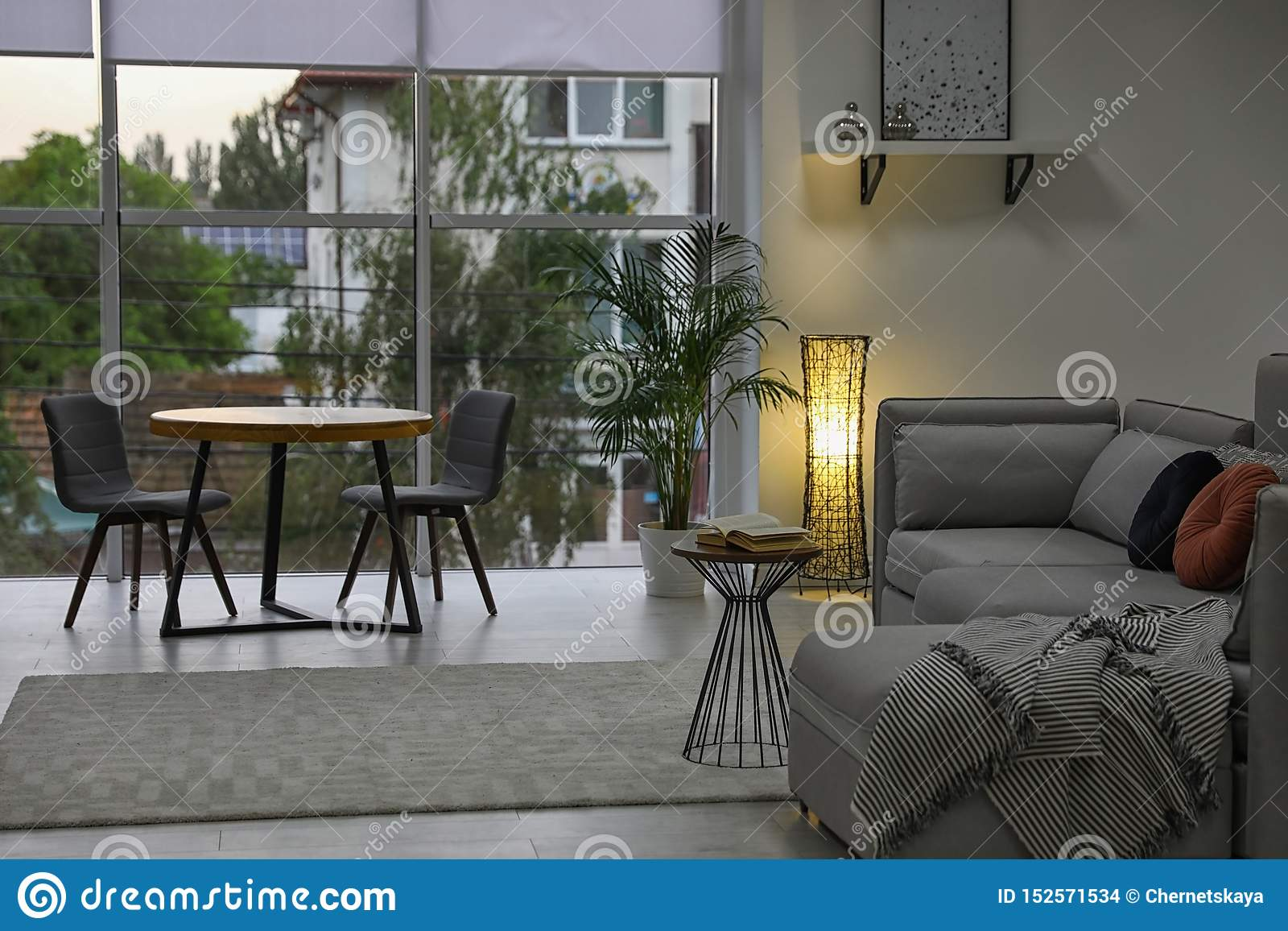 Cozy Living Room With Modern Furniture And Stylish Decor