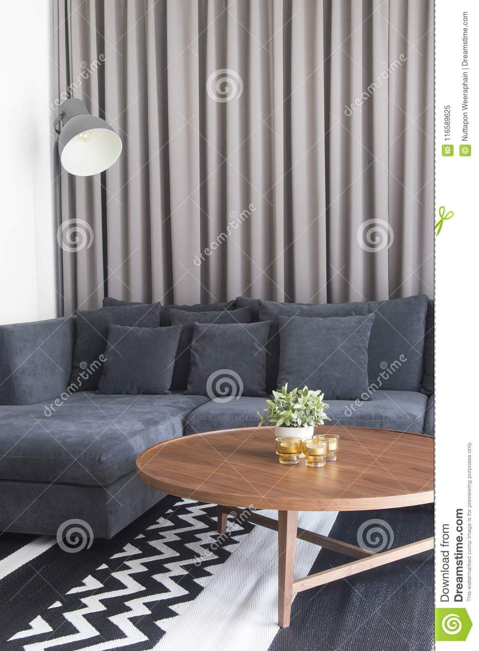 Brilliant Cozy Living Room With Navy Blue Satin Sofa And Candles On Machost Co Dining Chair Design Ideas Machostcouk