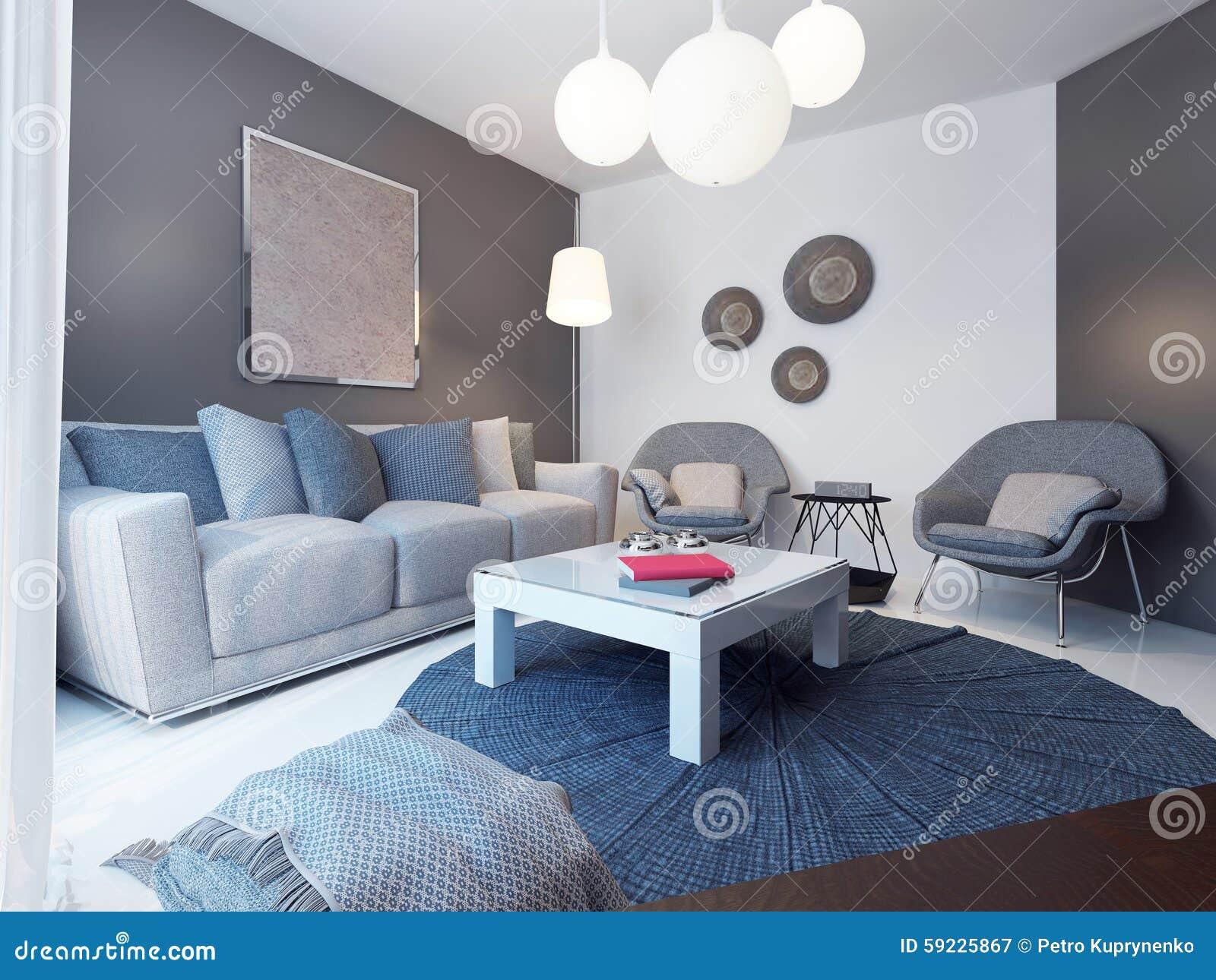 Cozy Lounge Room Minimalist Style Stock Illustration