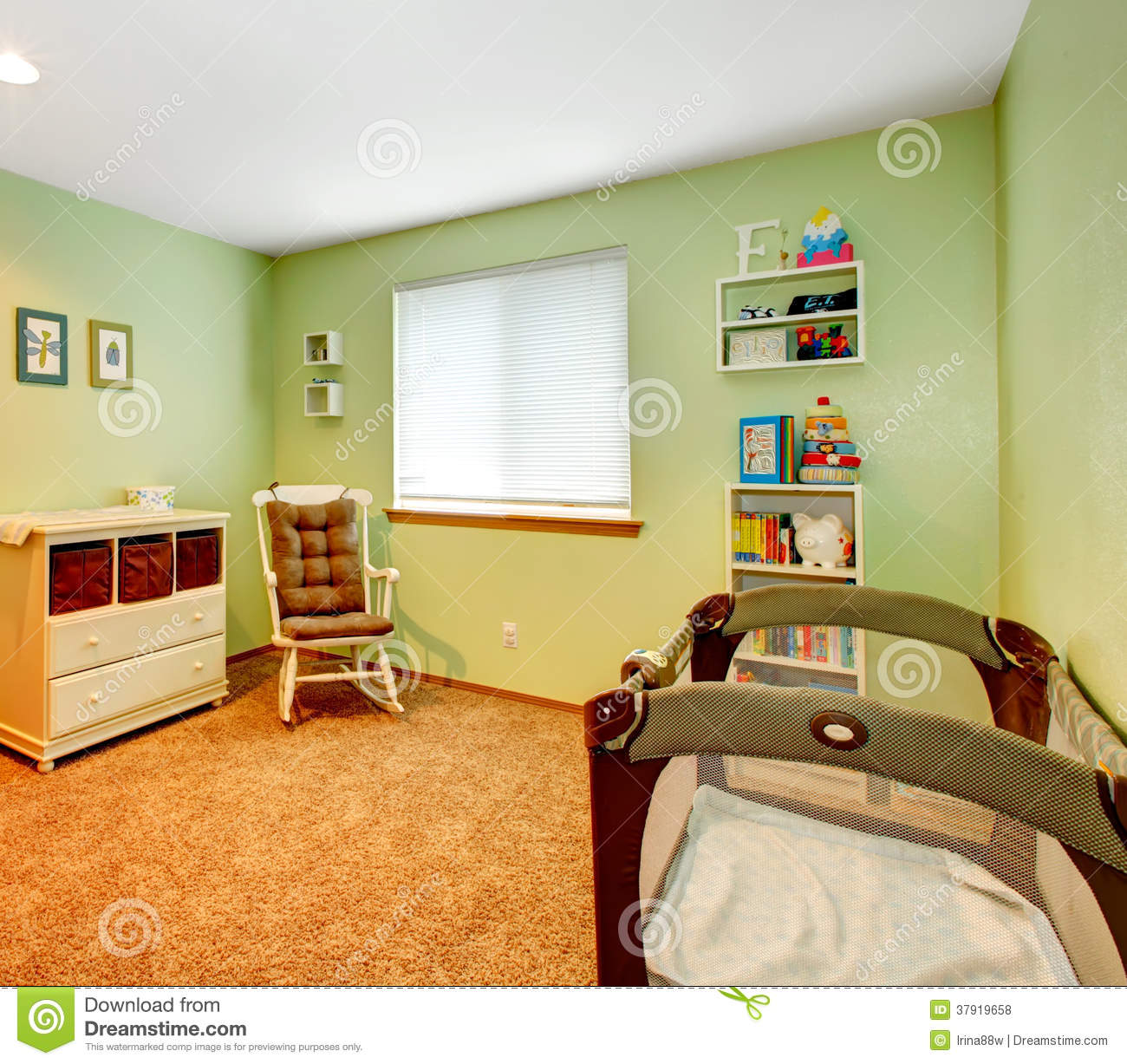 Cozy Nursery Room Stock Photo Image Of Open Furnished 37919658