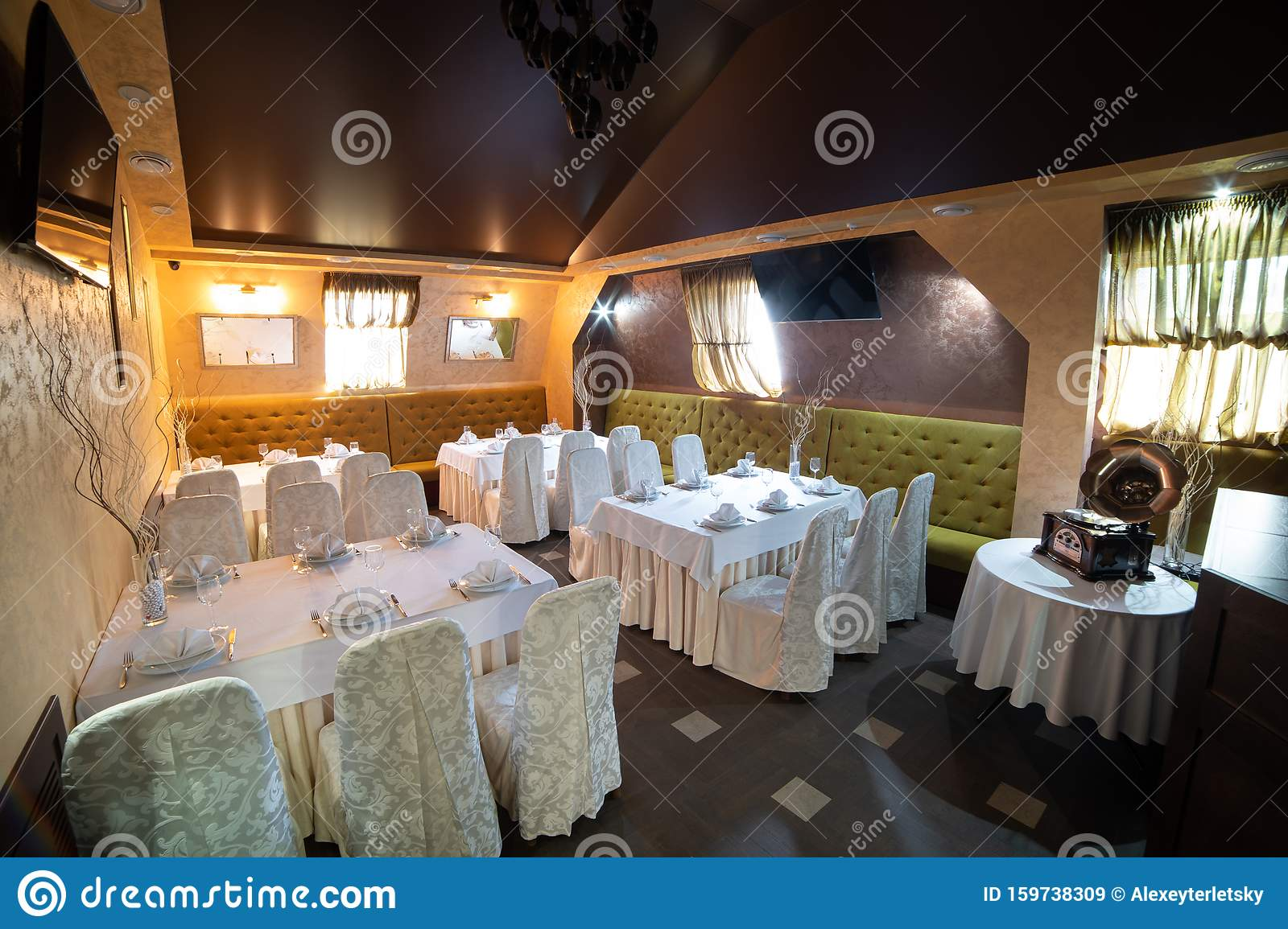 Cozy Restaurant Interior Cafe Lounge Table Party Stock Image Image Of Taste Party 159738309