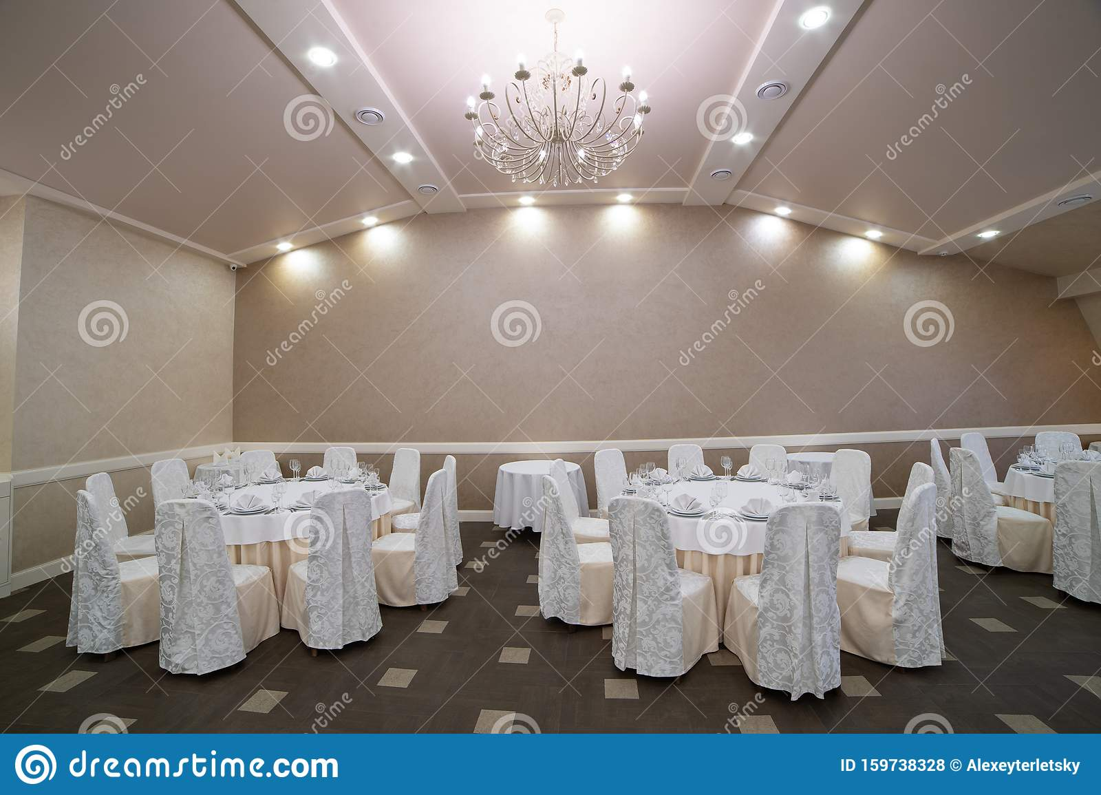 Cozy Restaurant Interior Cafe Lounge Table Party Stock Photo Image Of Table Fried 159738328