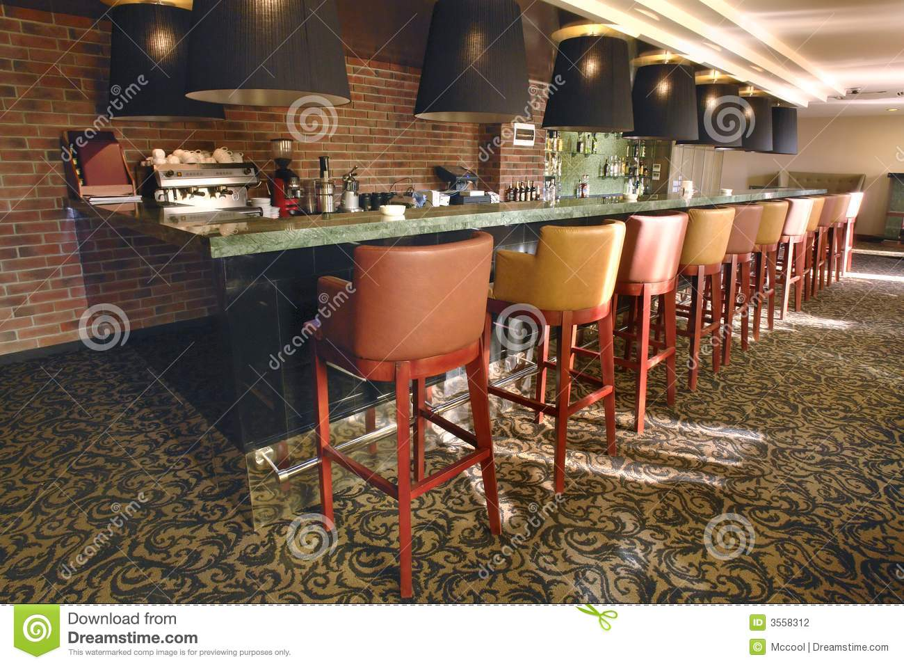Cozy Small Bar In Modern Hotel Stock Photography Image 3558312