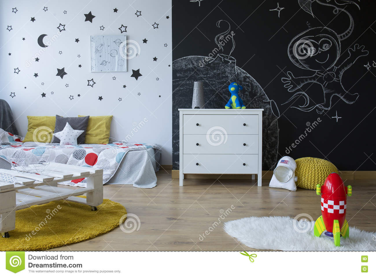 Cozy space themed room