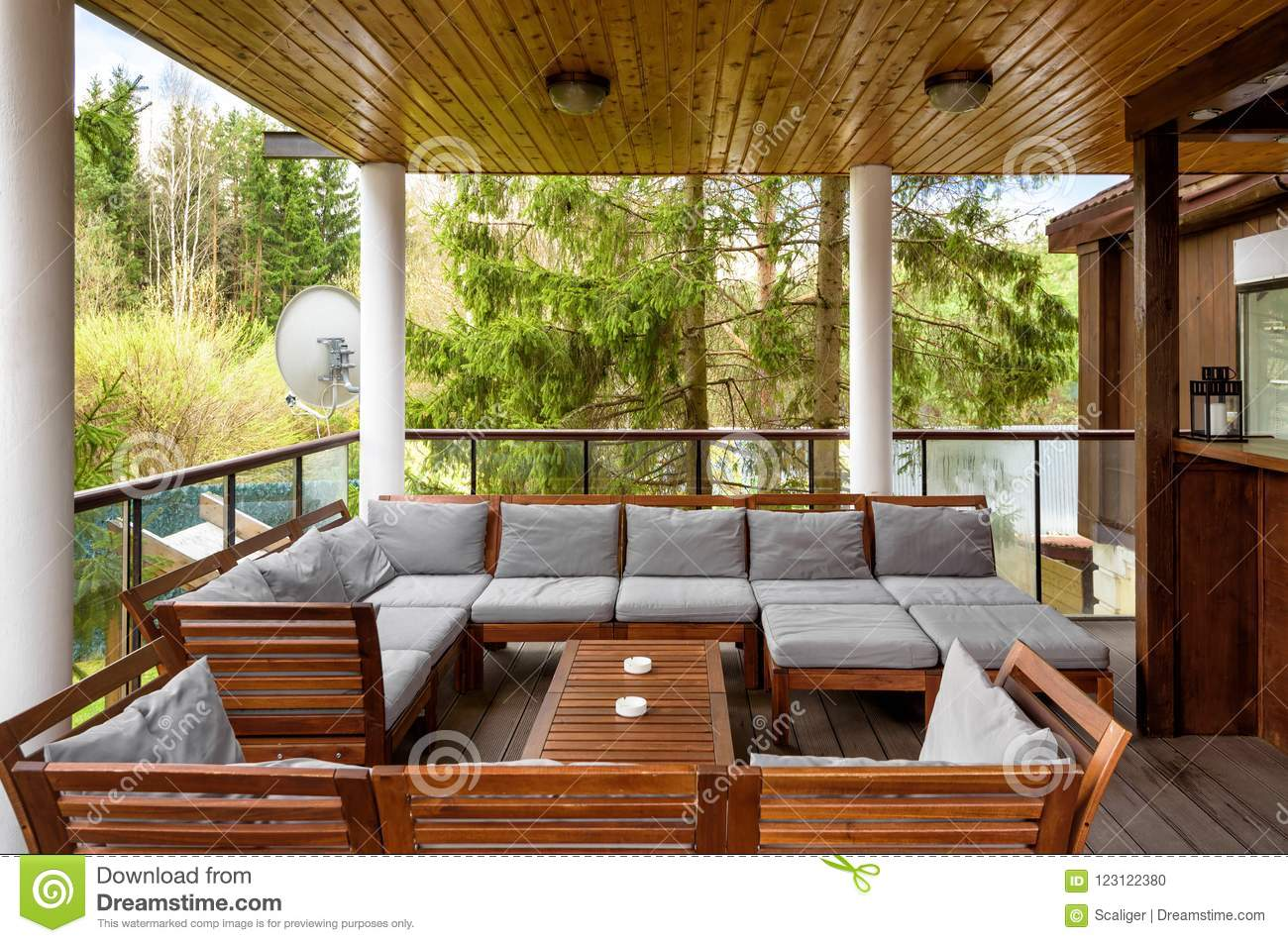 Cozy Terrace In Country House Or Hotel Editorial Image