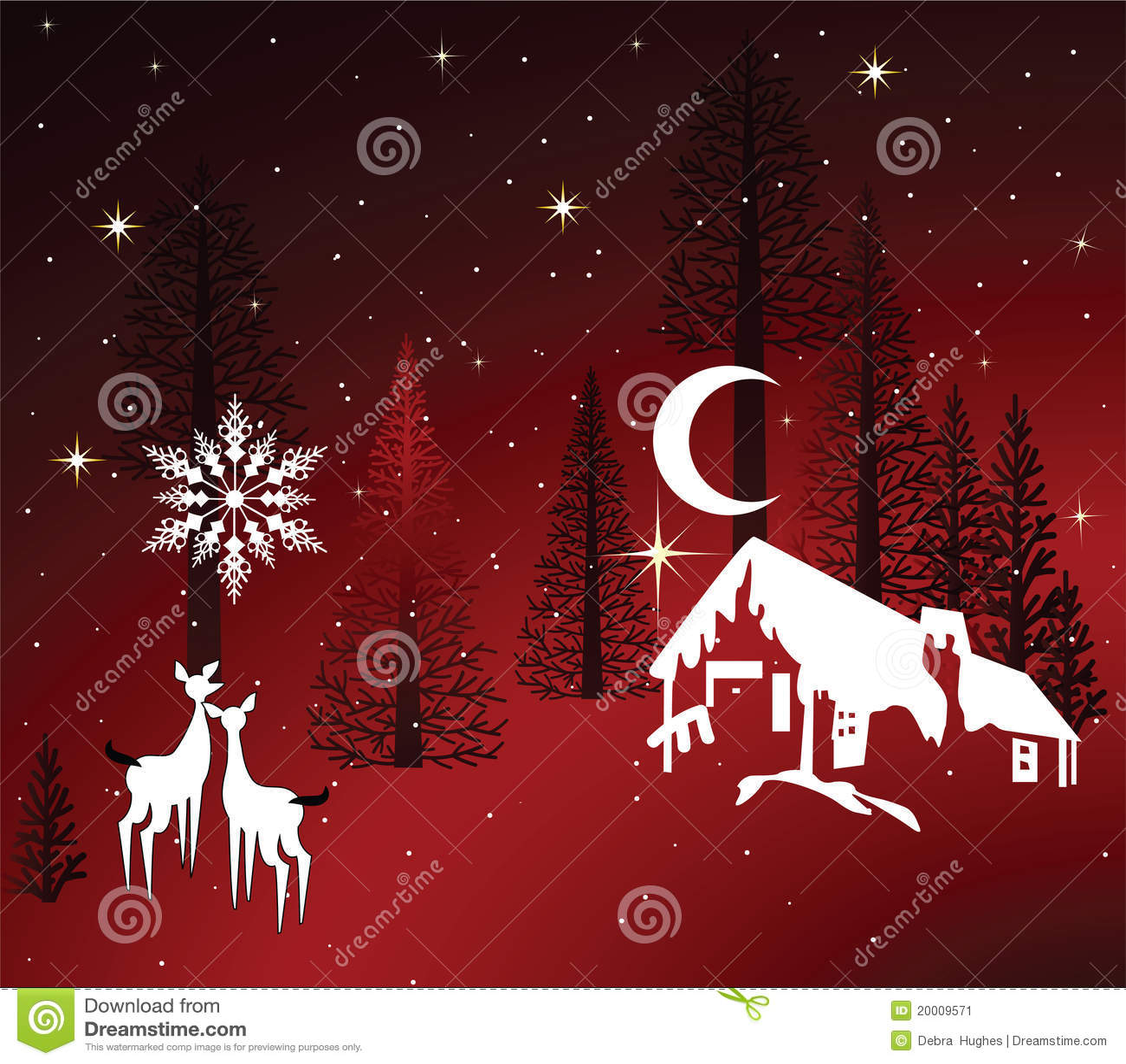 Cozy Winter Cabin Stock Image Image 20009571