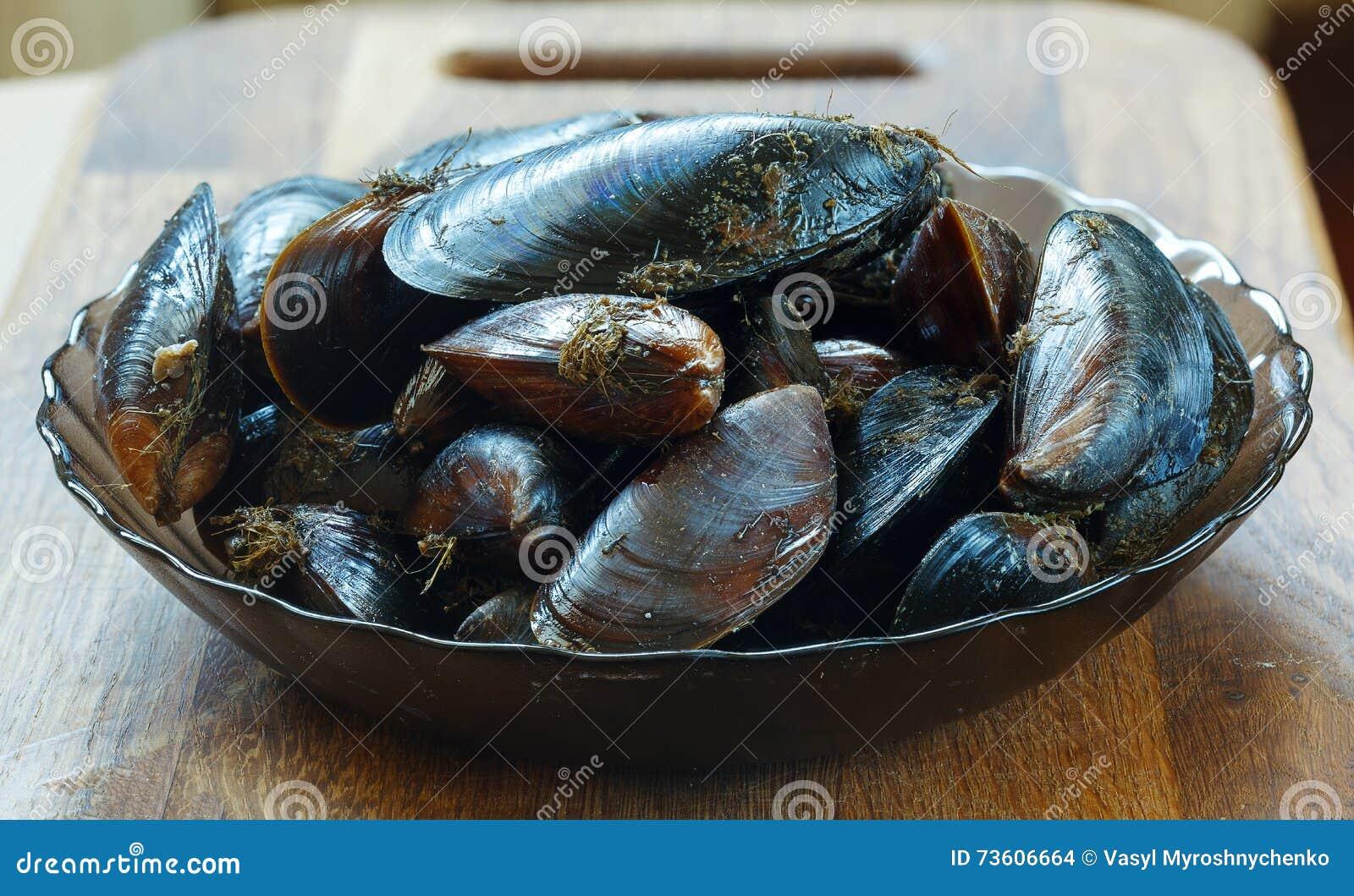 Cozze crude di mar nero pronte da cucinare fotografia for Cucinare qualcosa di fresco
