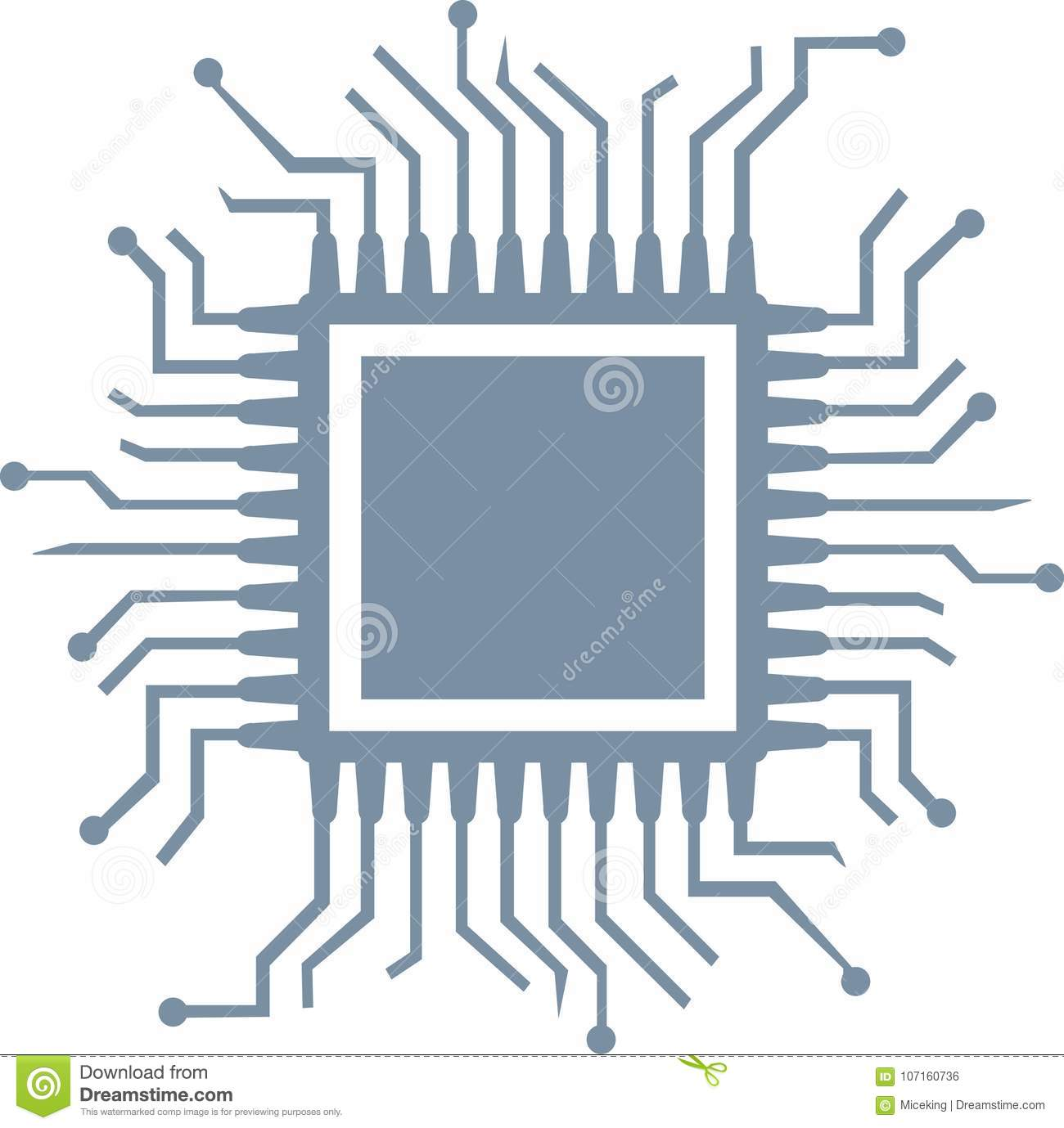 cpu computer chip stock vector illustration of vector 107160736 https www dreamstime com cpu computer chip cpu computer chip hardware vector image107160736