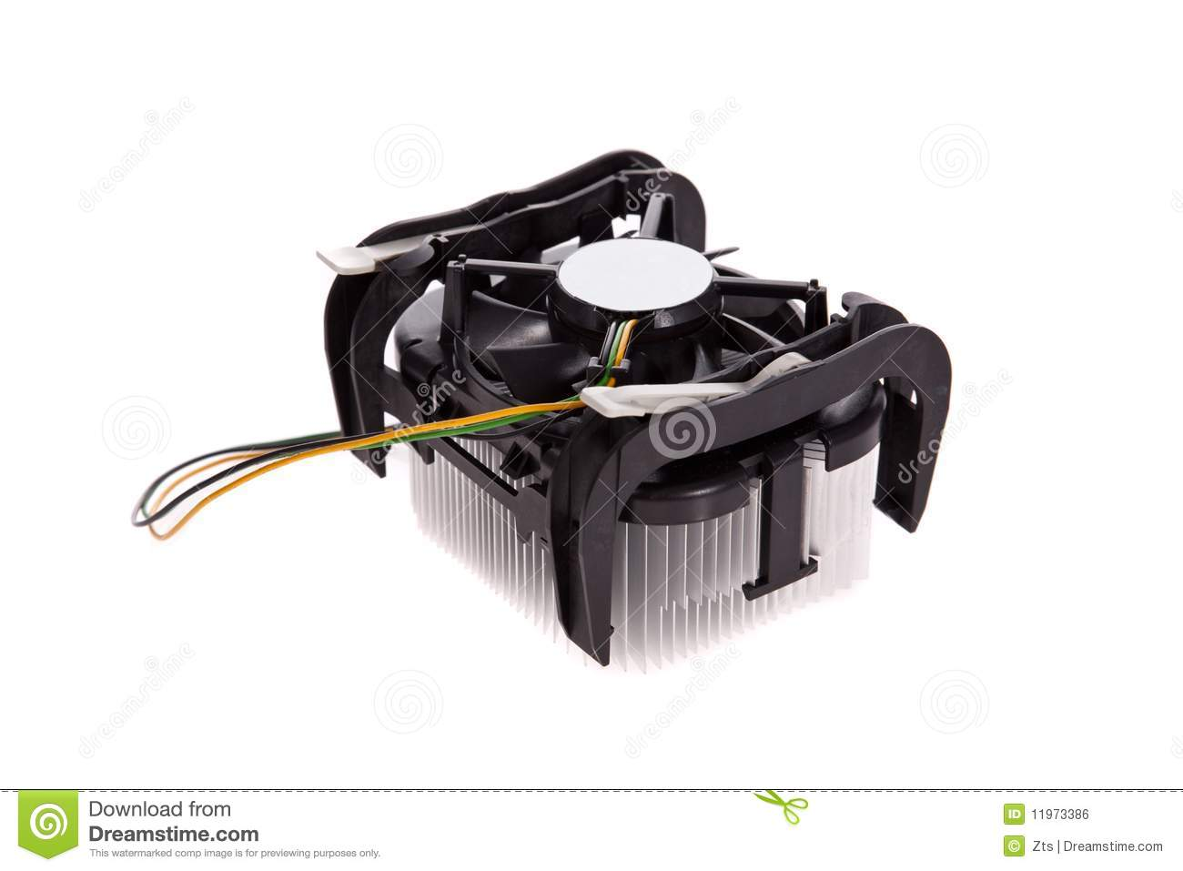 Cpu Cooler Isolated On White Background Royalty Free Stock