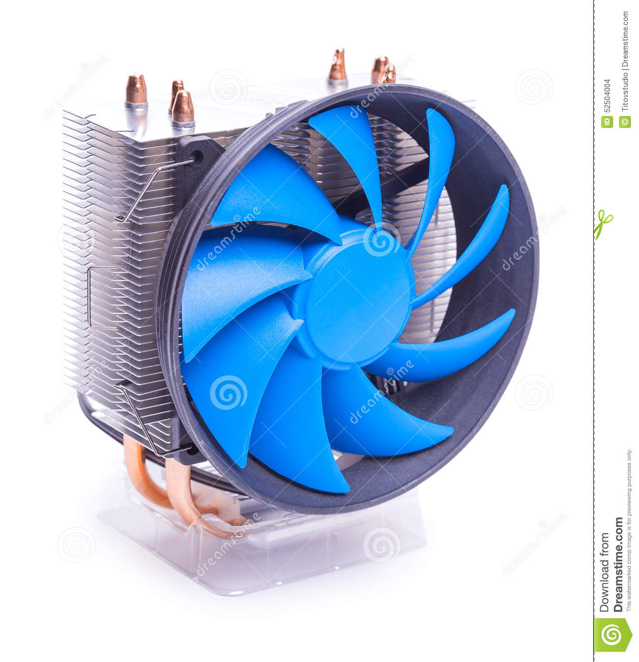 Cpu Cooler On A White Background Stock Photo