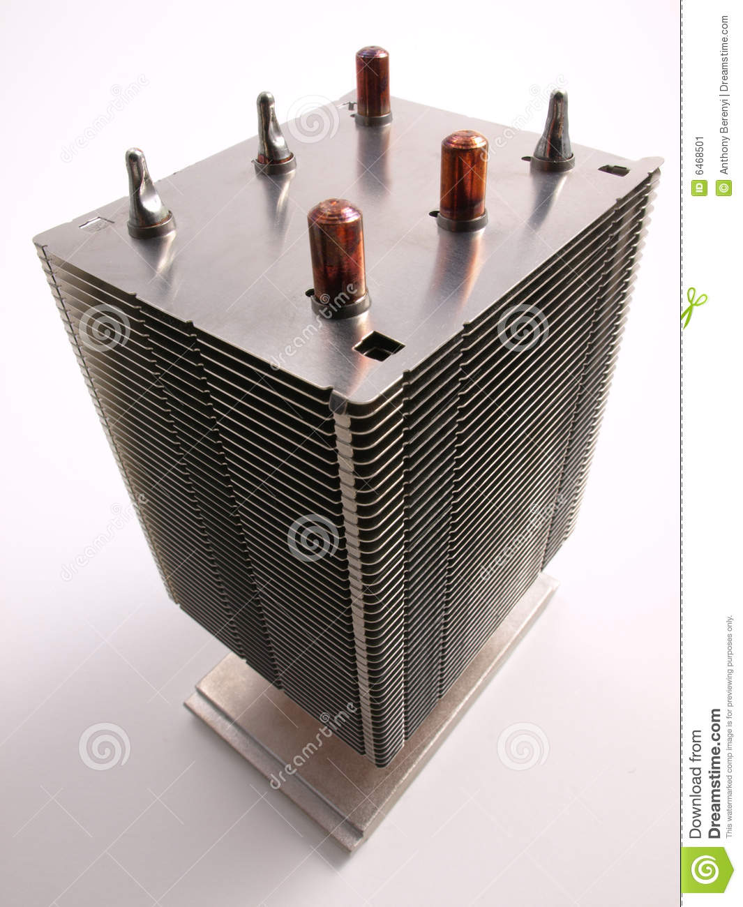 Computer Heat Sink : Cpu heat sink top view stock image