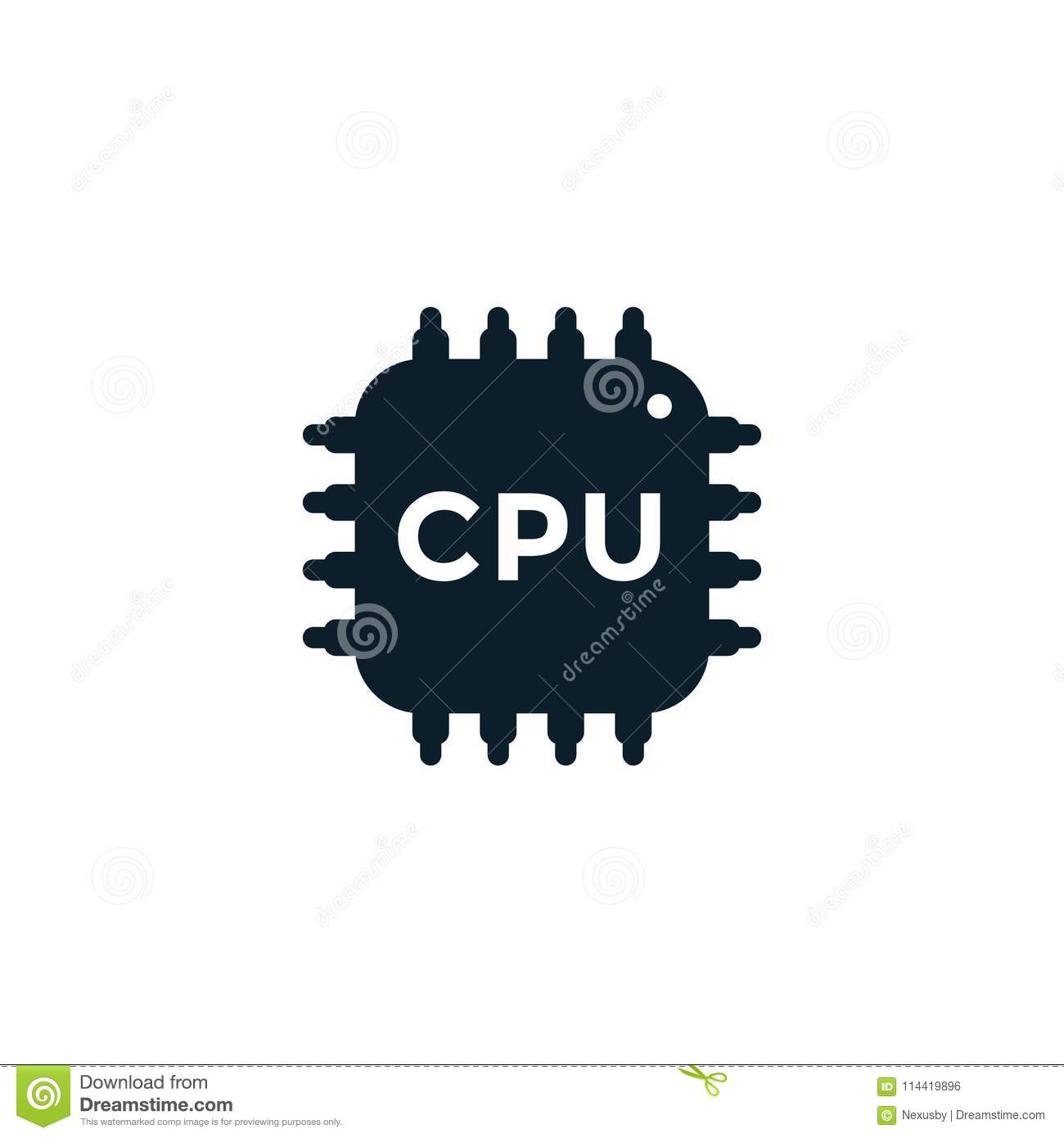 Cpu Icon Electronic Circuit Processor Chipset Stock Vector Easy For Beginners