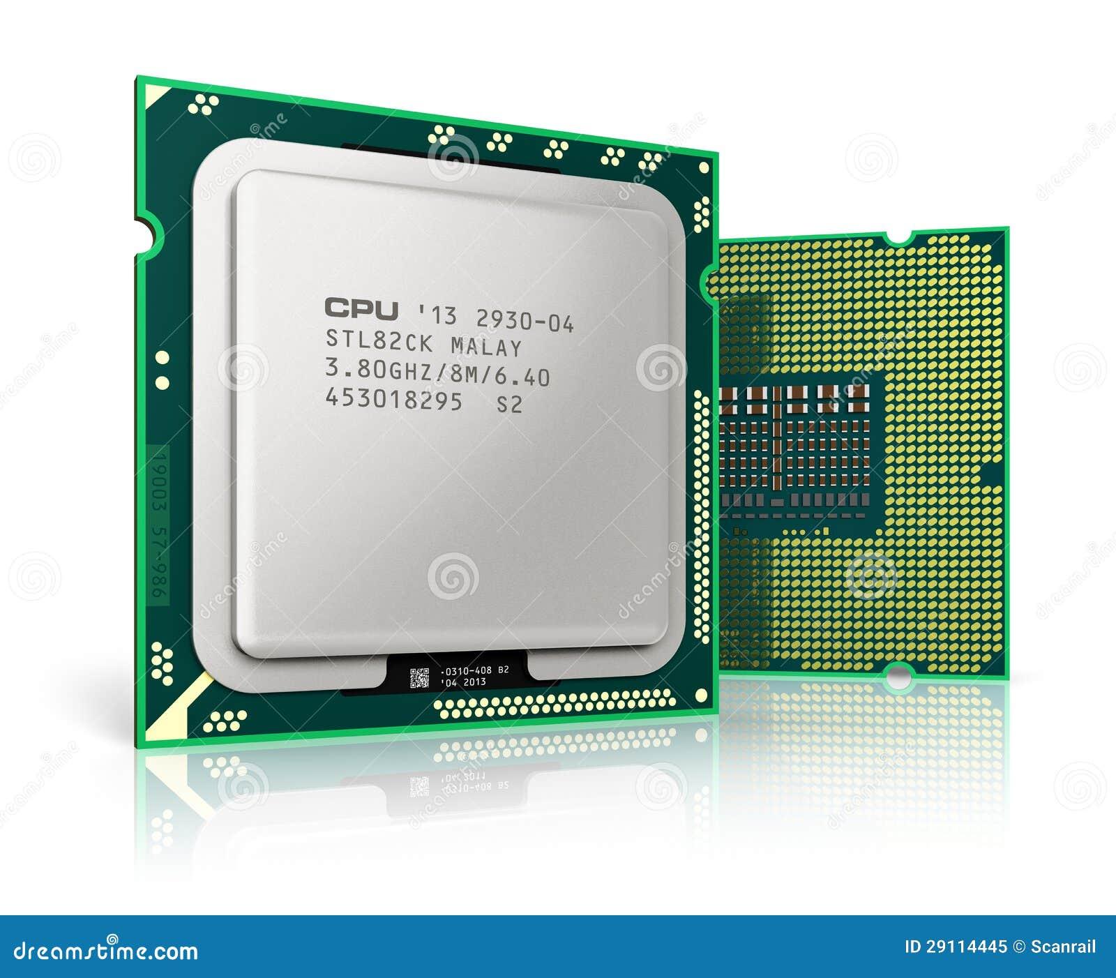 CPU moderna de los pro...