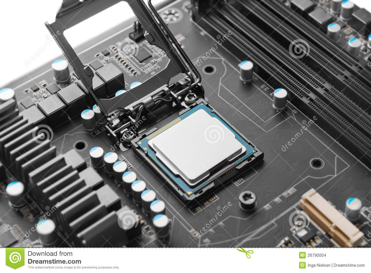 CPU On Motherboard Stock Images - Image: 26790004