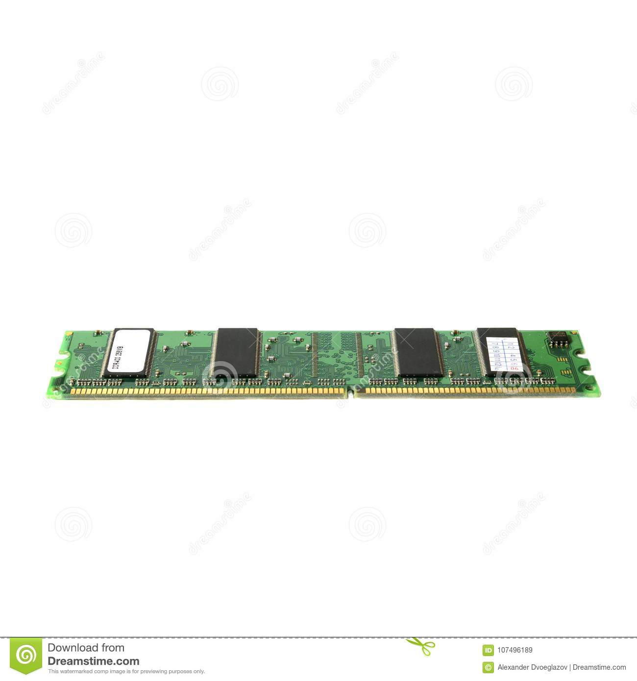 CPU old DDR2 ram. Random access memory for computer.