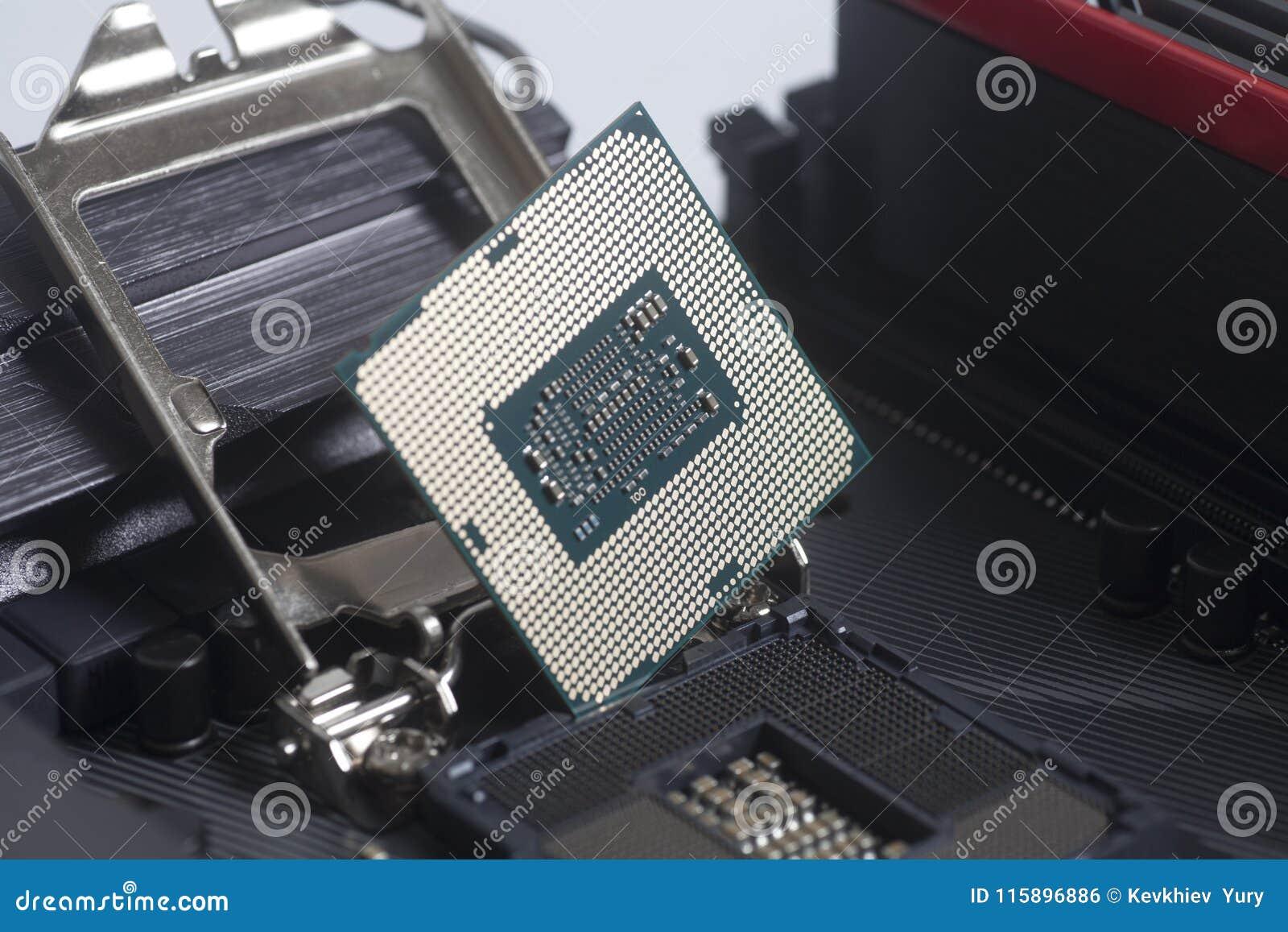 CPU-Sockel 1151 Intels LGA auf Motherboard Computer PC mit CPU-Prozessor