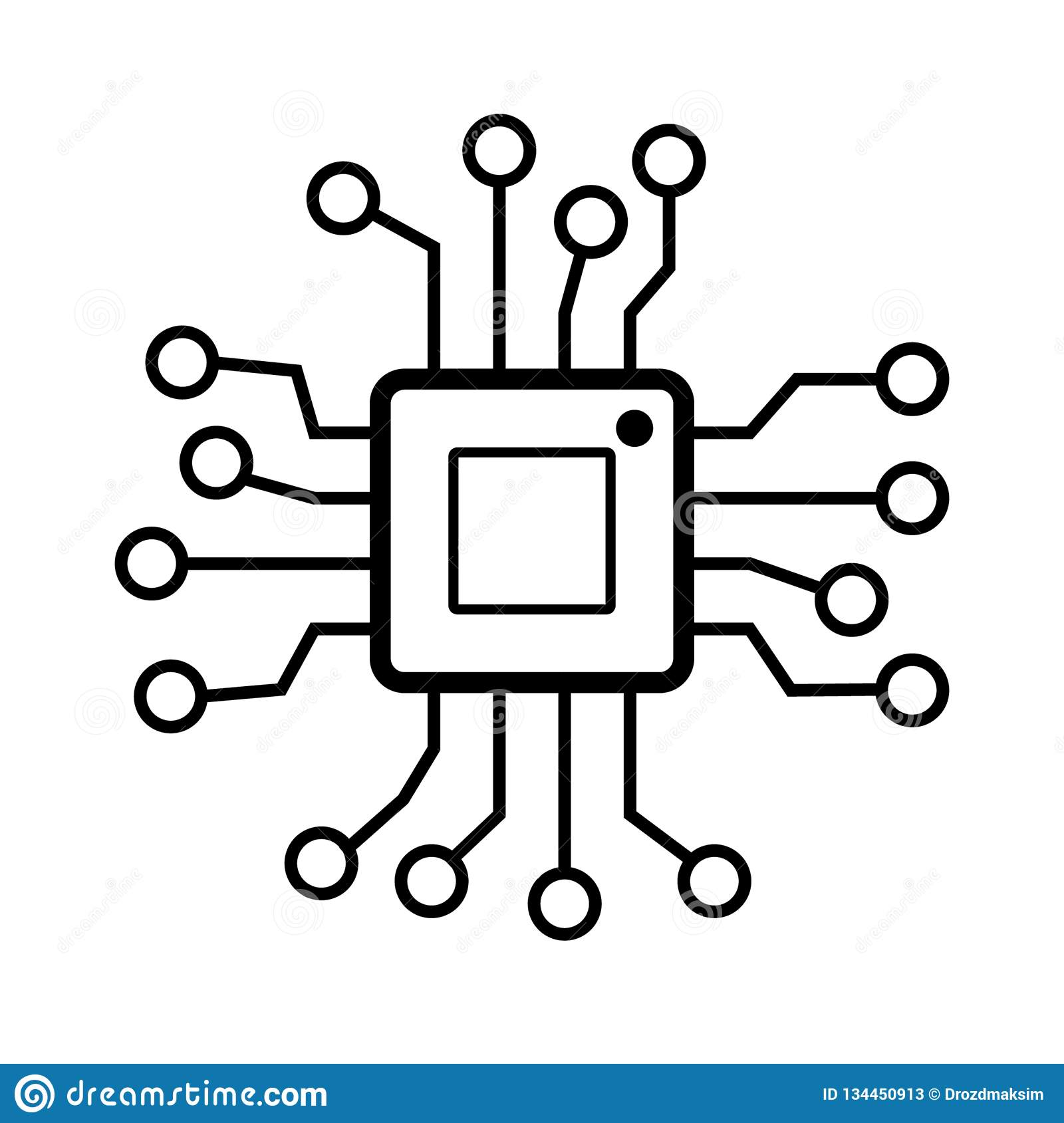 cpu vector icon stock vector illustration of chip white 134450913 https www dreamstime com cpu vector icon cpu vector icon vector illustration isolated white background image134450913