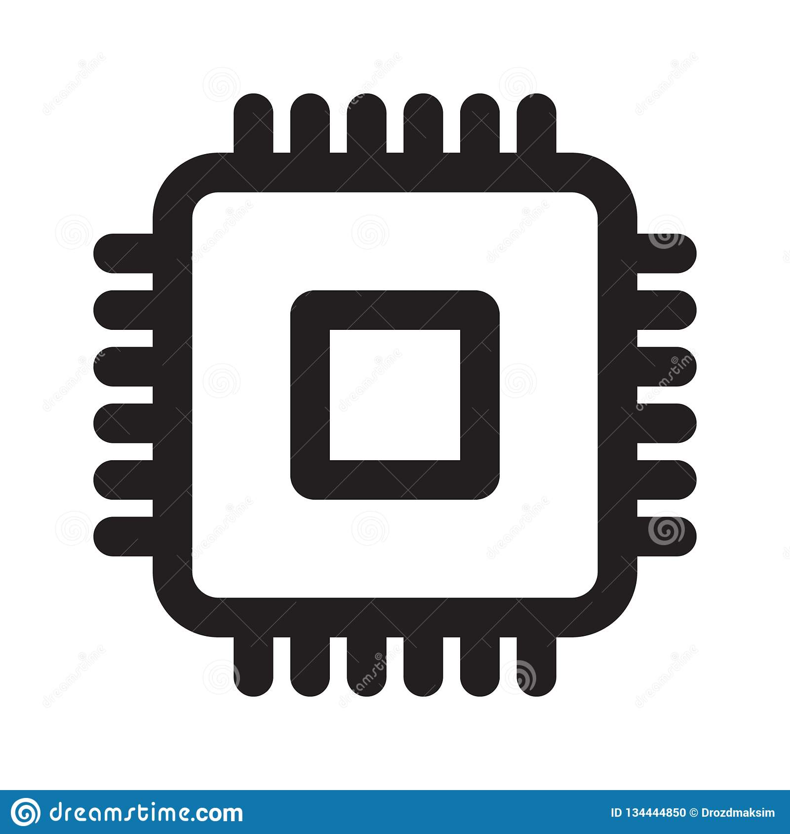 cpu vector icon stock illustration illustration of background 134444850 https www dreamstime com cpu vector icon illustration isolated background image134444850