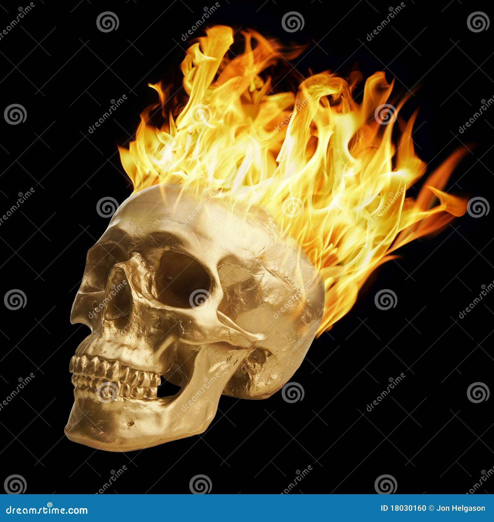 Cráneo ardiente