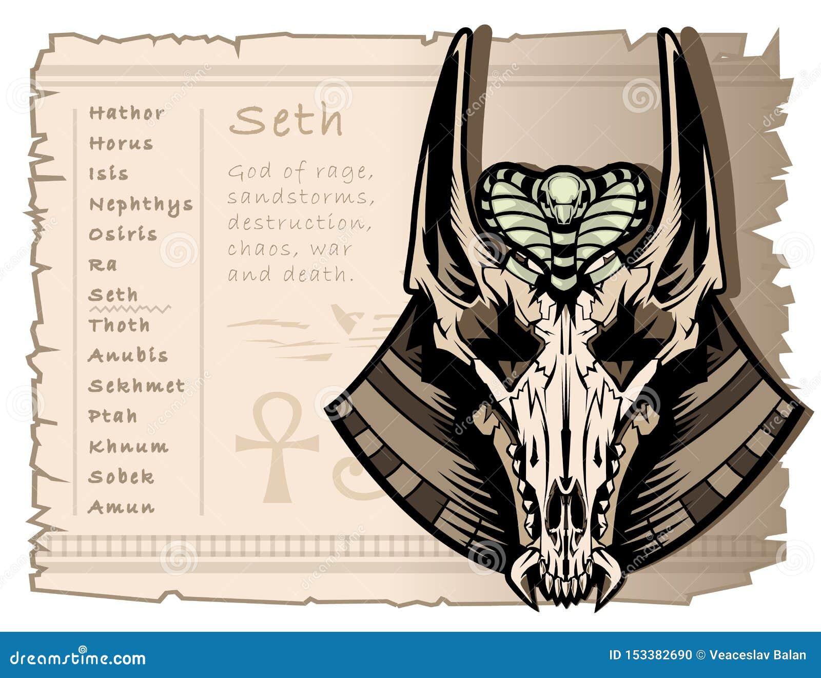 Cráneo del vintage de un chacal con los oídos largos, dios de la guerra, la tormenta, y la anarquía Seth en Egipto antiguo Temple