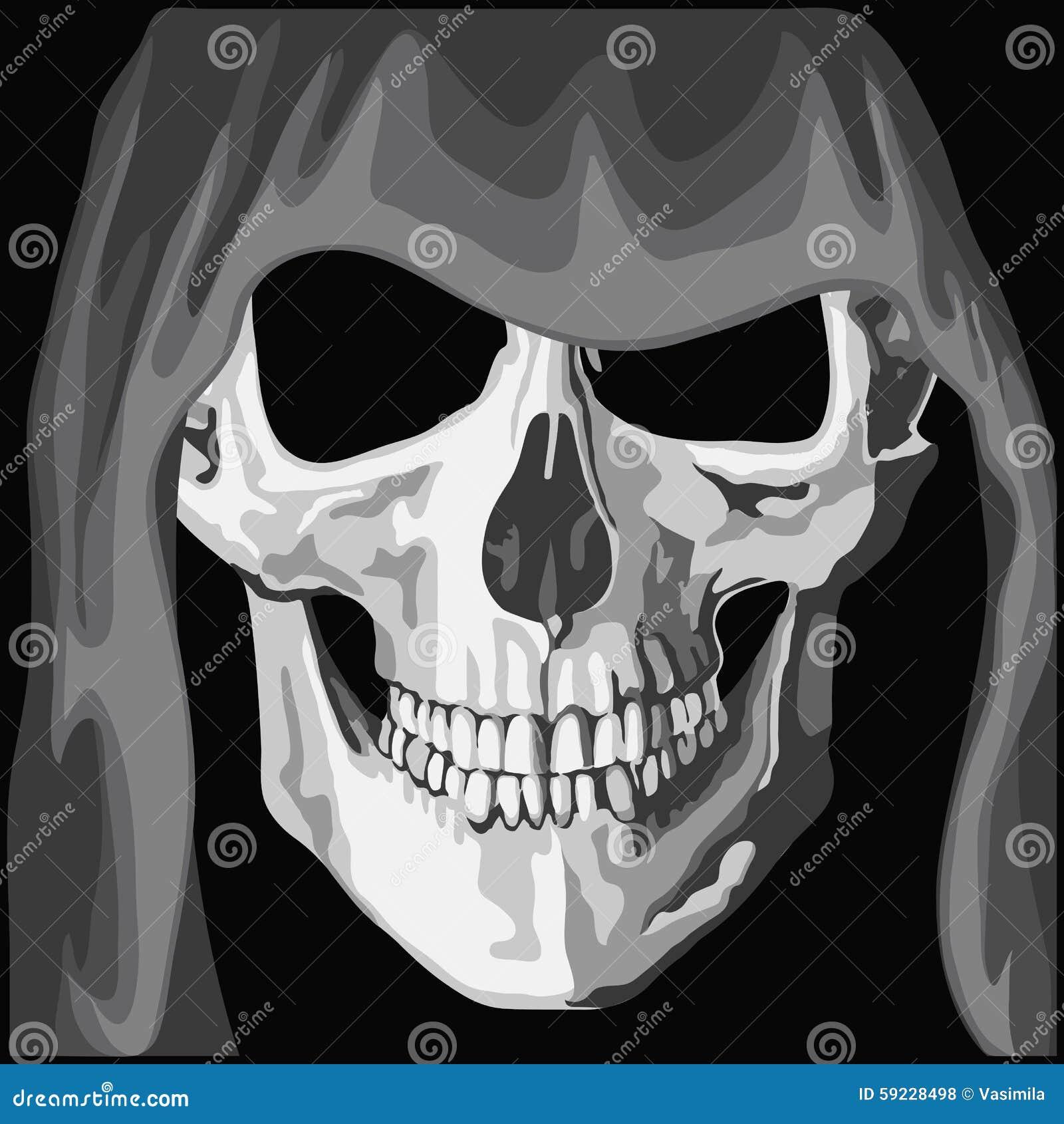 Download Cráneo en capa ilustración del vector. Ilustración de arte - 59228498