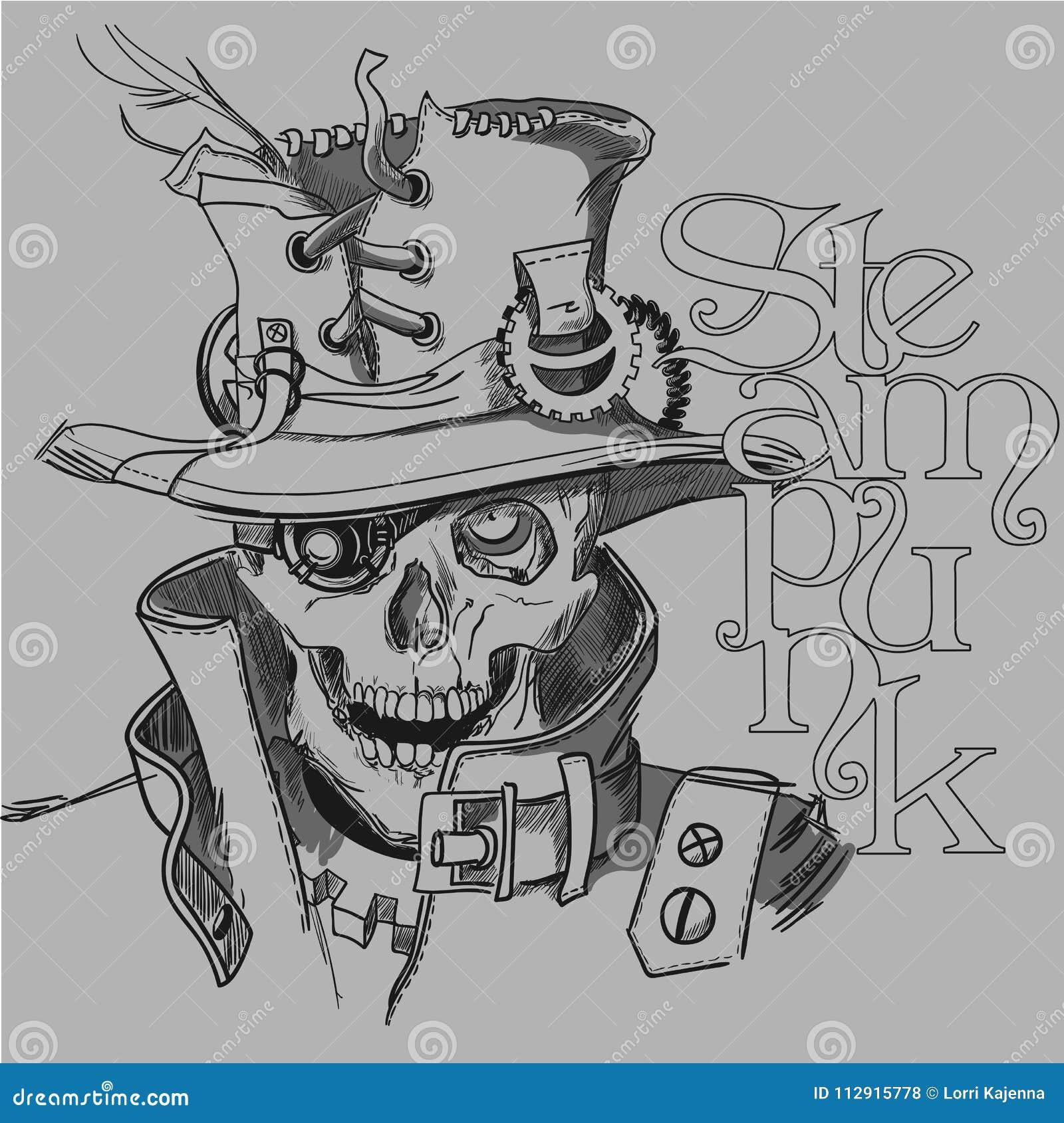 Cráneo en estilo del steampunk