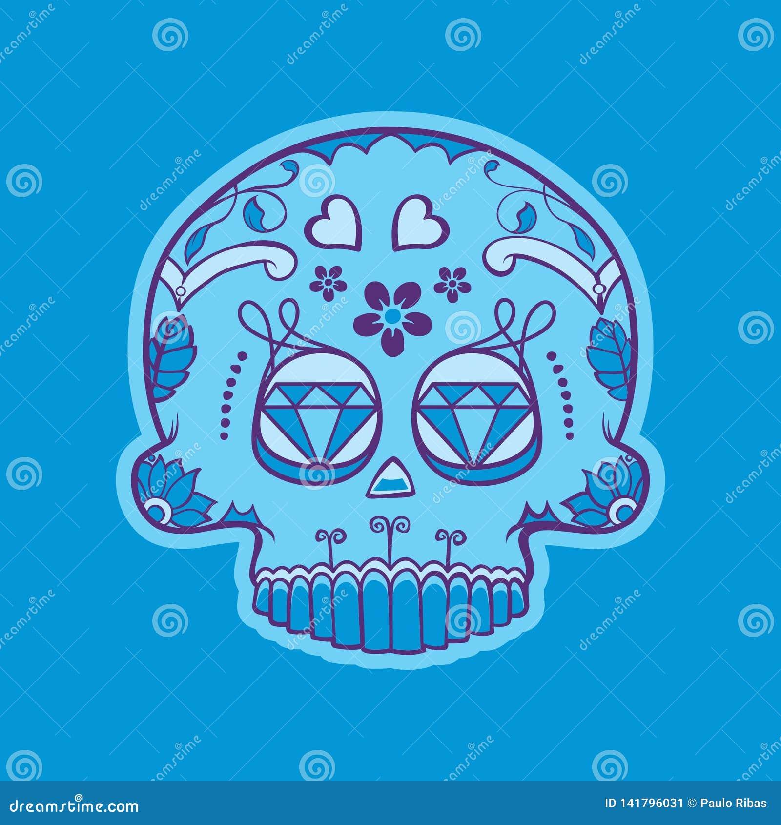 Cráneo mexicano del día de muertos