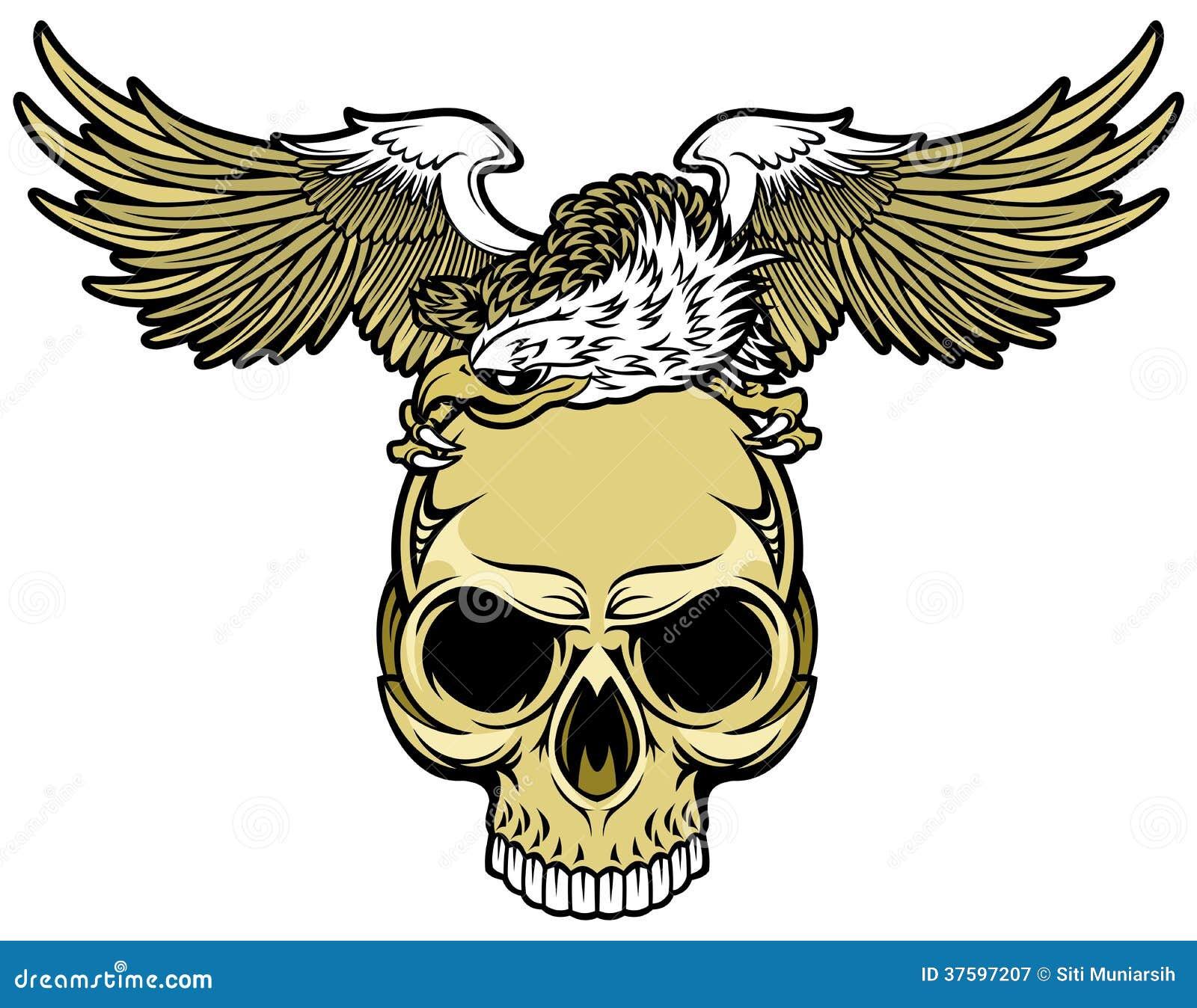 Cráneo y águila