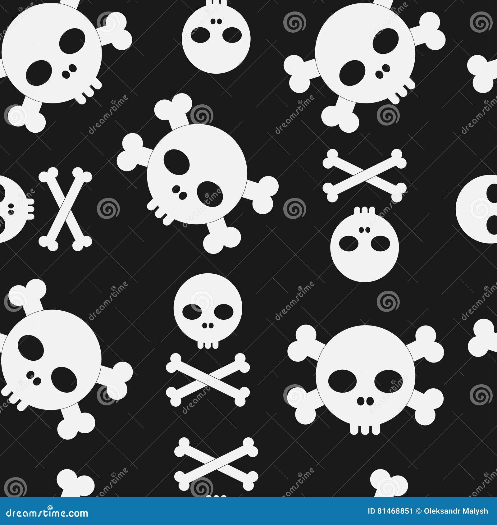 Cráneo y modelo inconsútil de la bandera pirata