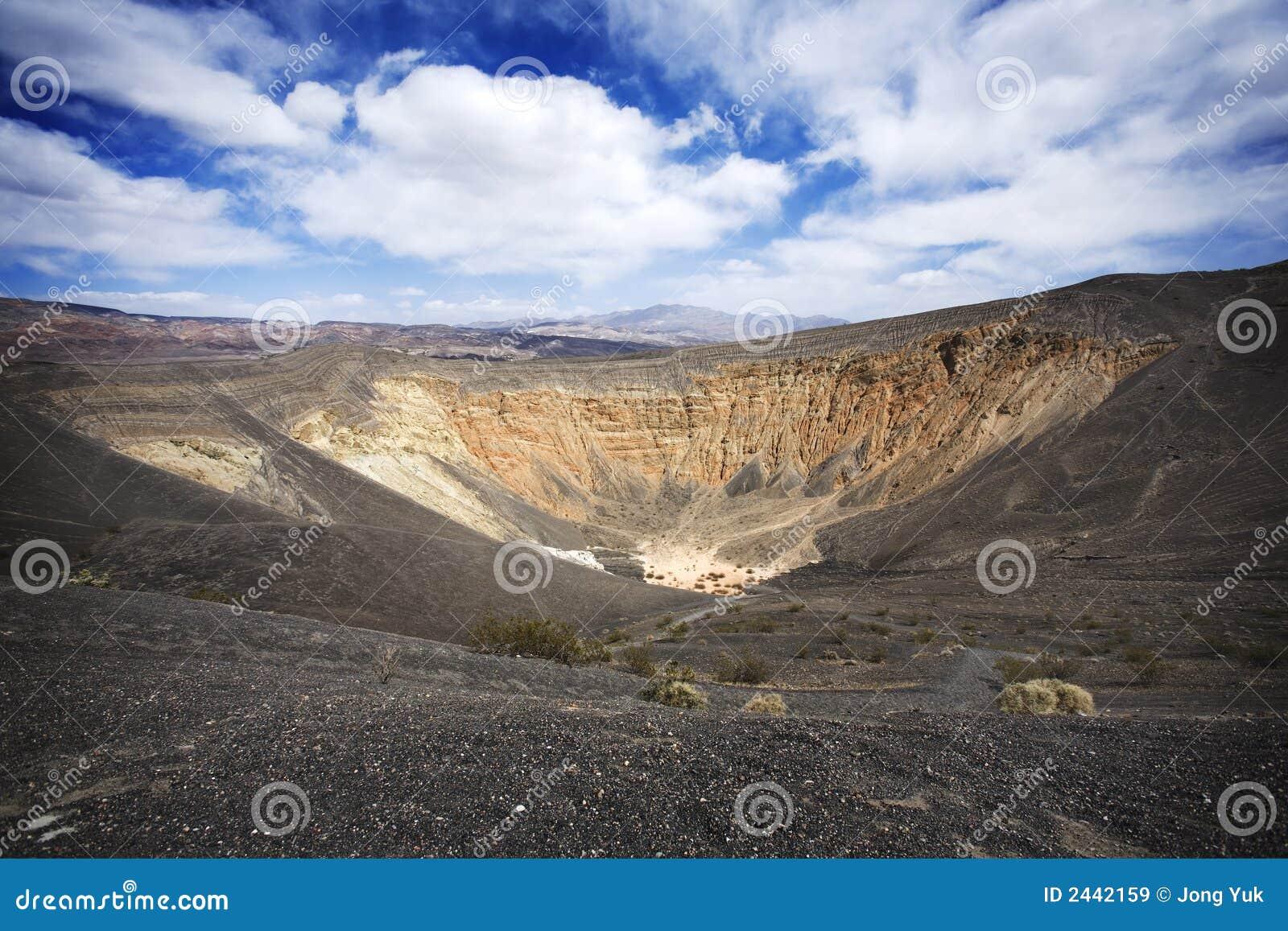 Cráter en Death Valley
