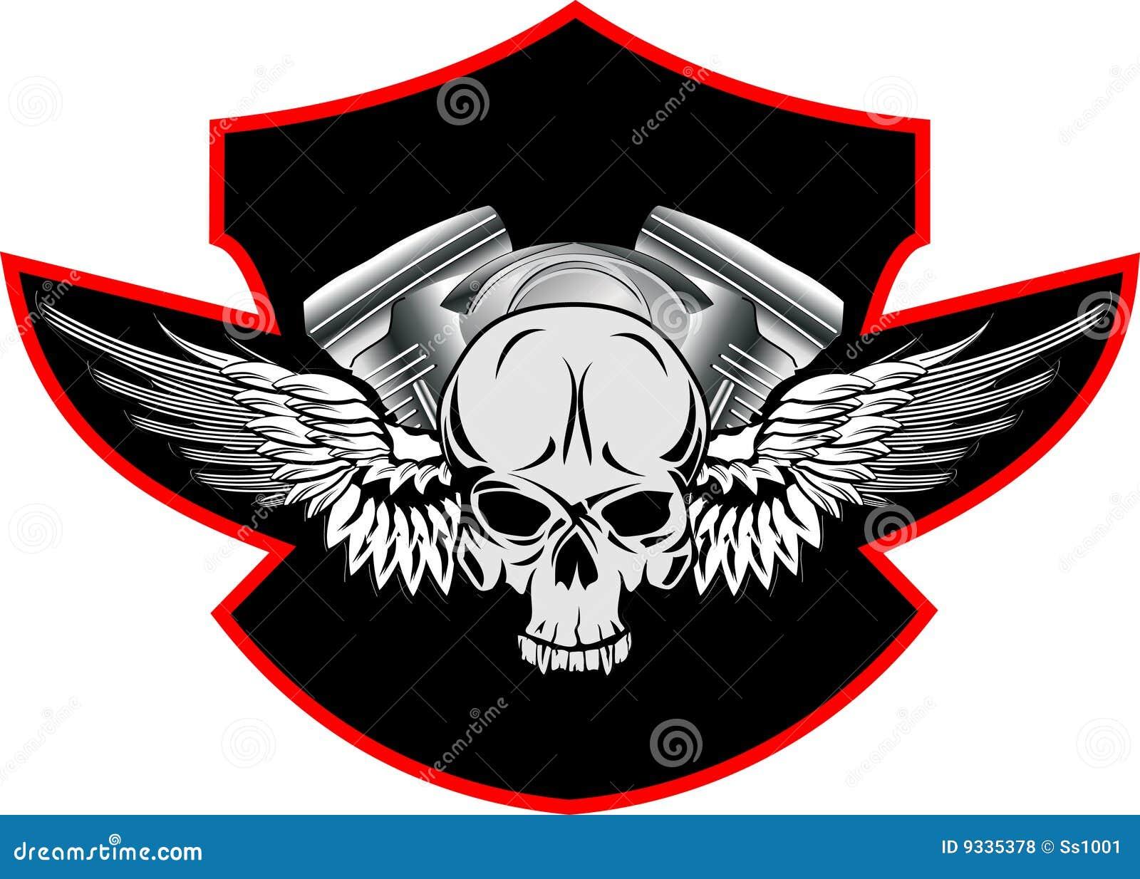 Crâne avec des ailes